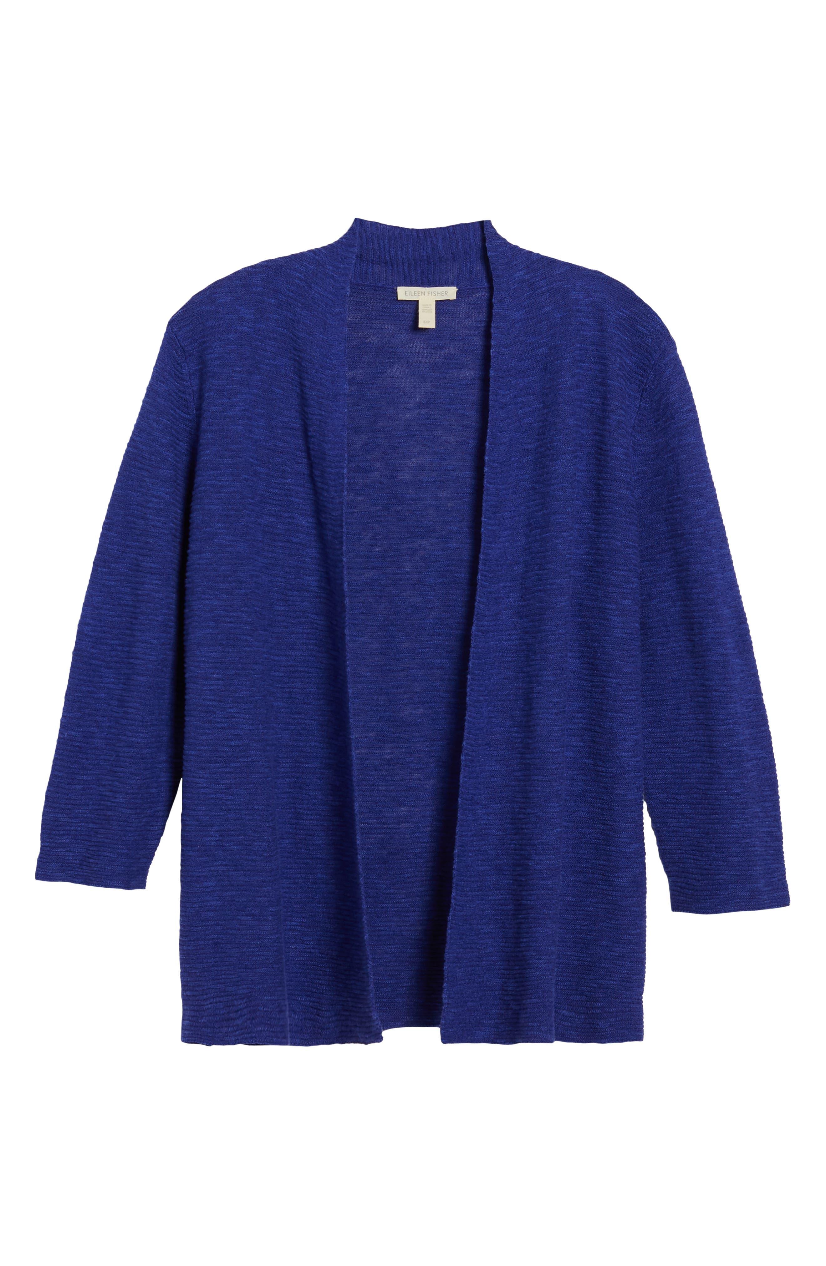 Simple Organic Linen & Cotton Cardigan,                             Alternate thumbnail 18, color,