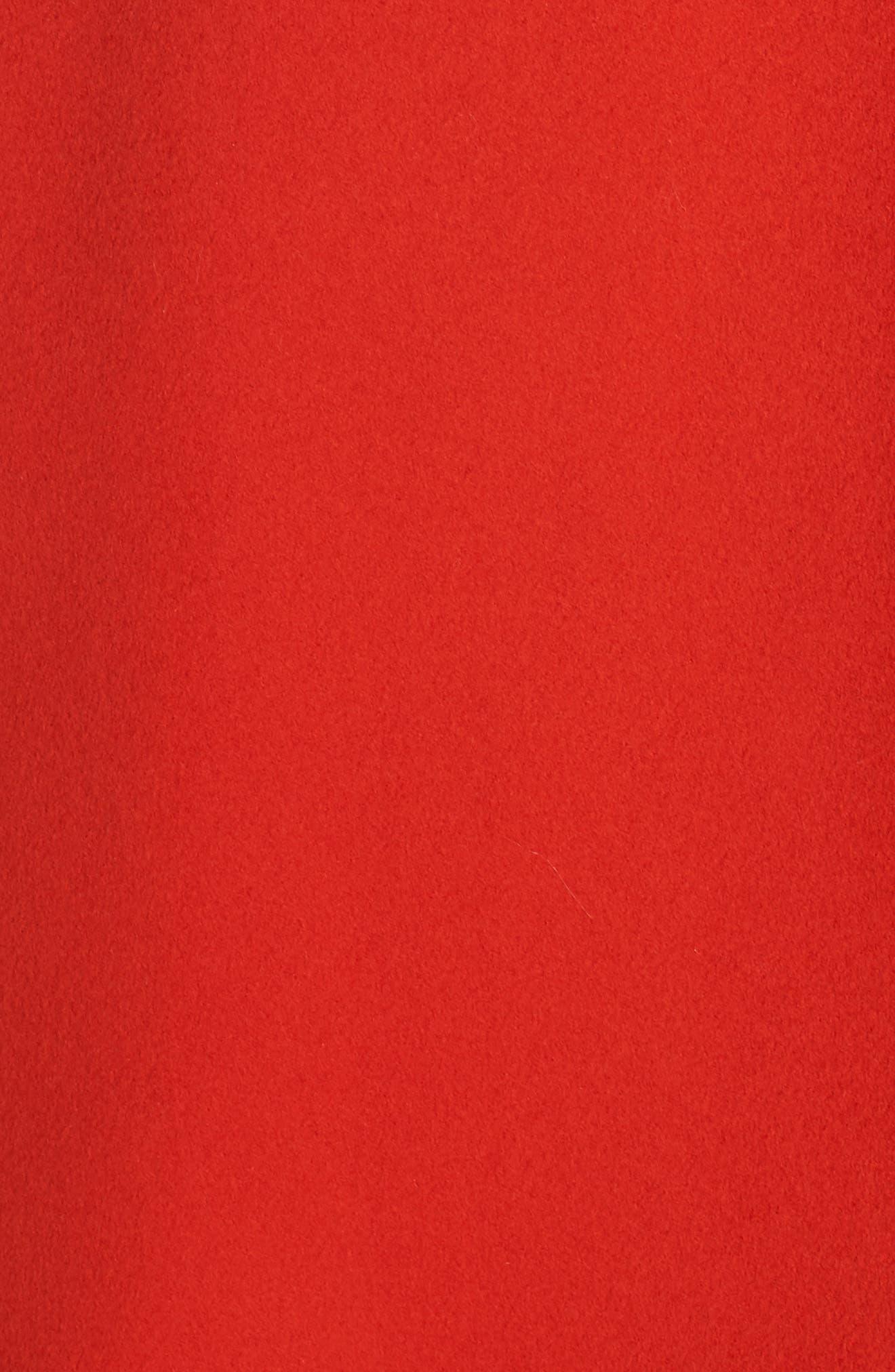 FLEURETTE,                             Loro Piana Wool Long Coat,                             Alternate thumbnail 7, color,                             SAFFRON