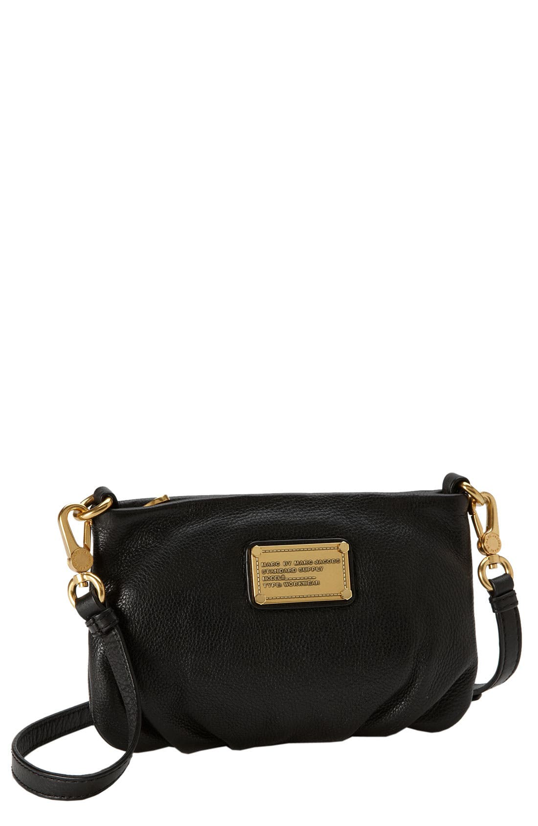 MARC JACOBS,                             MARC BY MARC JACOBS 'Classic Q - Percy' Crossbody Bag, Small,                             Main thumbnail 1, color,                             001