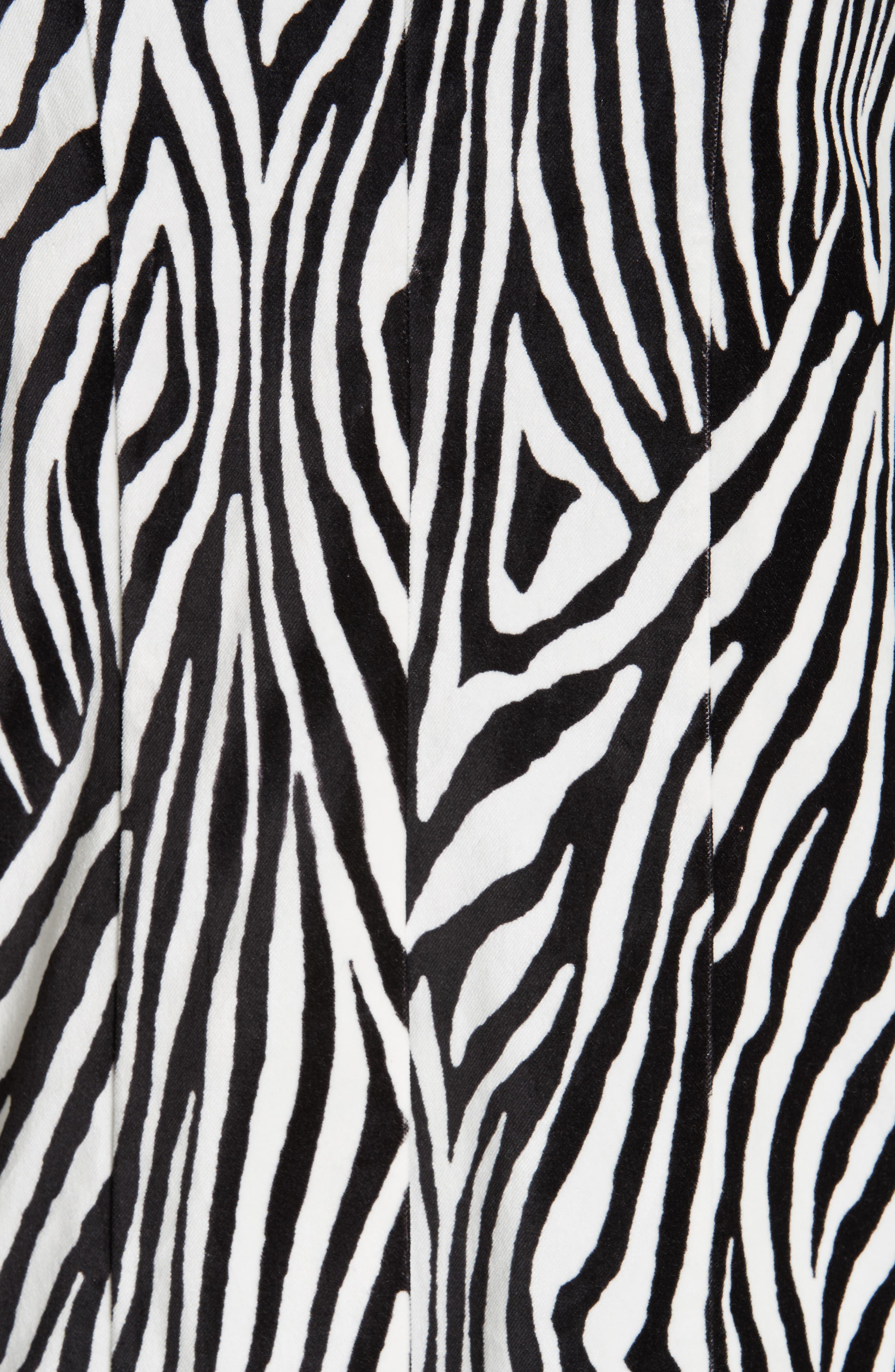 Zebra Print Blazer,                             Alternate thumbnail 6, color,                             NOIR MULTI