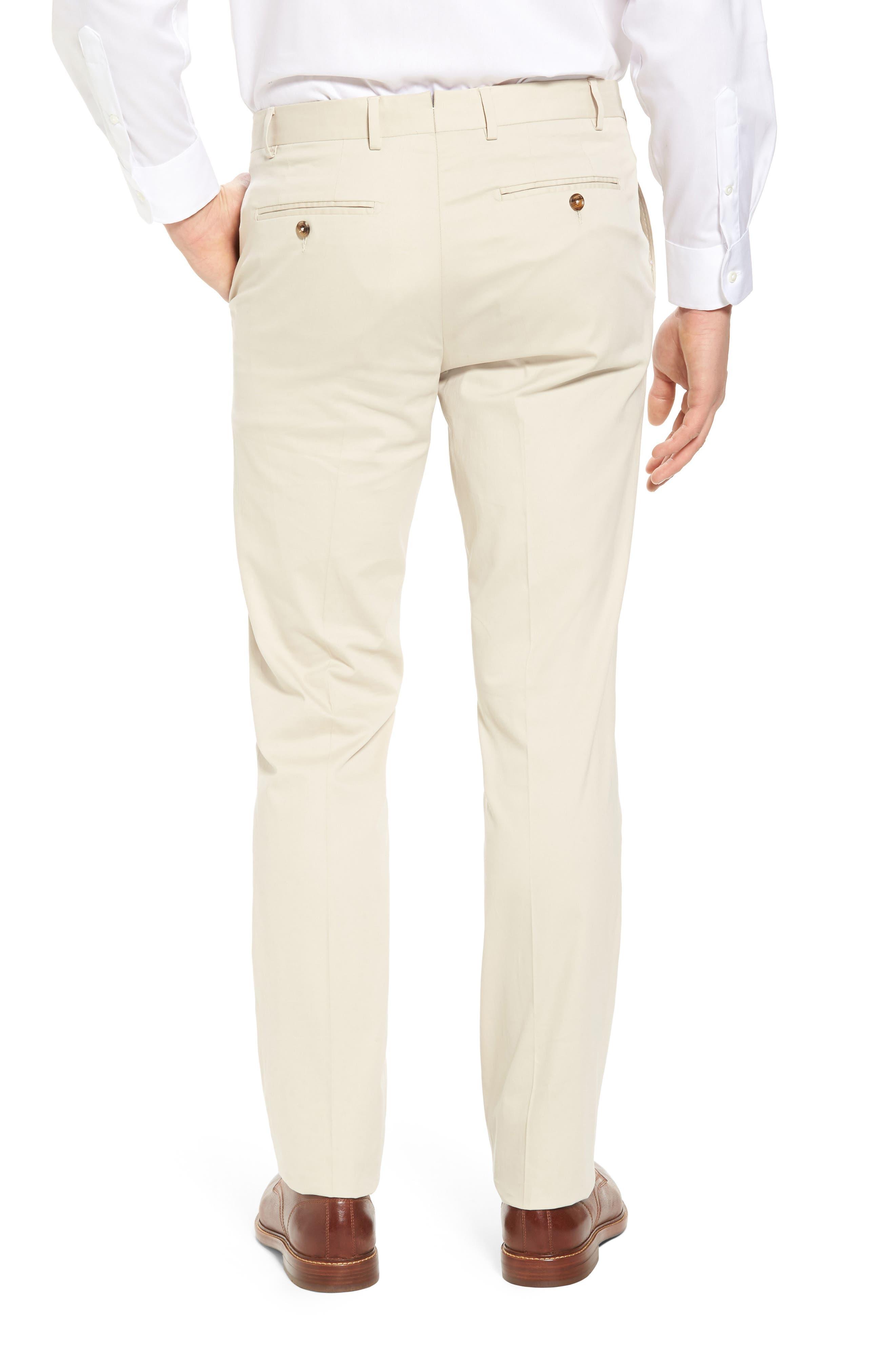 Perfect Flat Front Poplin Pants,                             Alternate thumbnail 2, color,                             STONE
