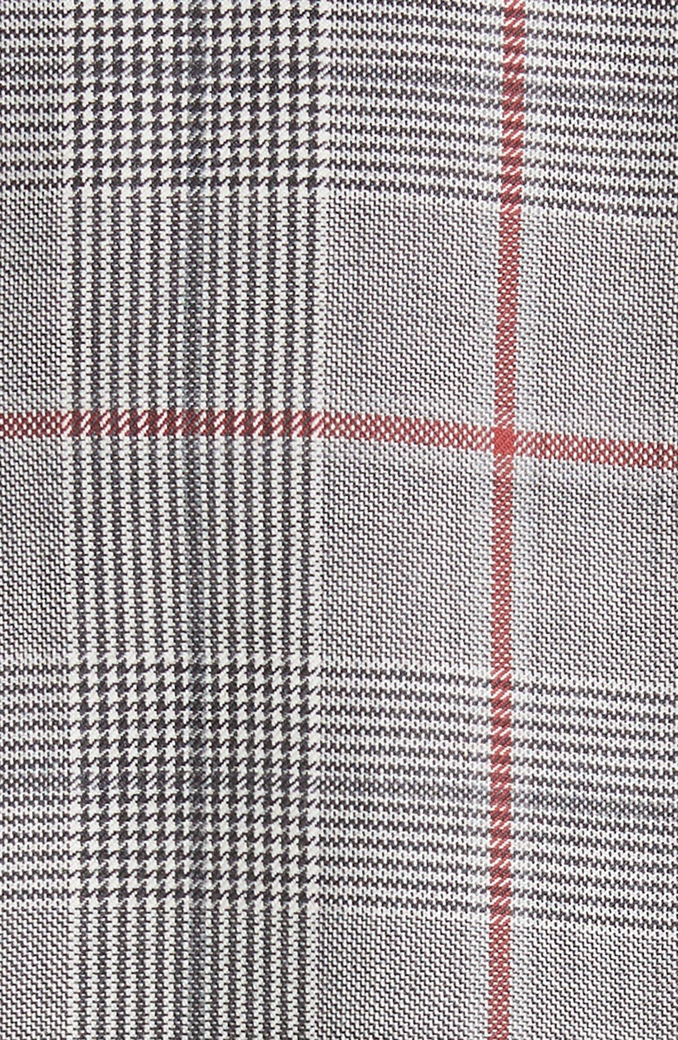 Plaid Wool Jacket,                             Alternate thumbnail 7, color,                             BLACK WHITE GRENADINE