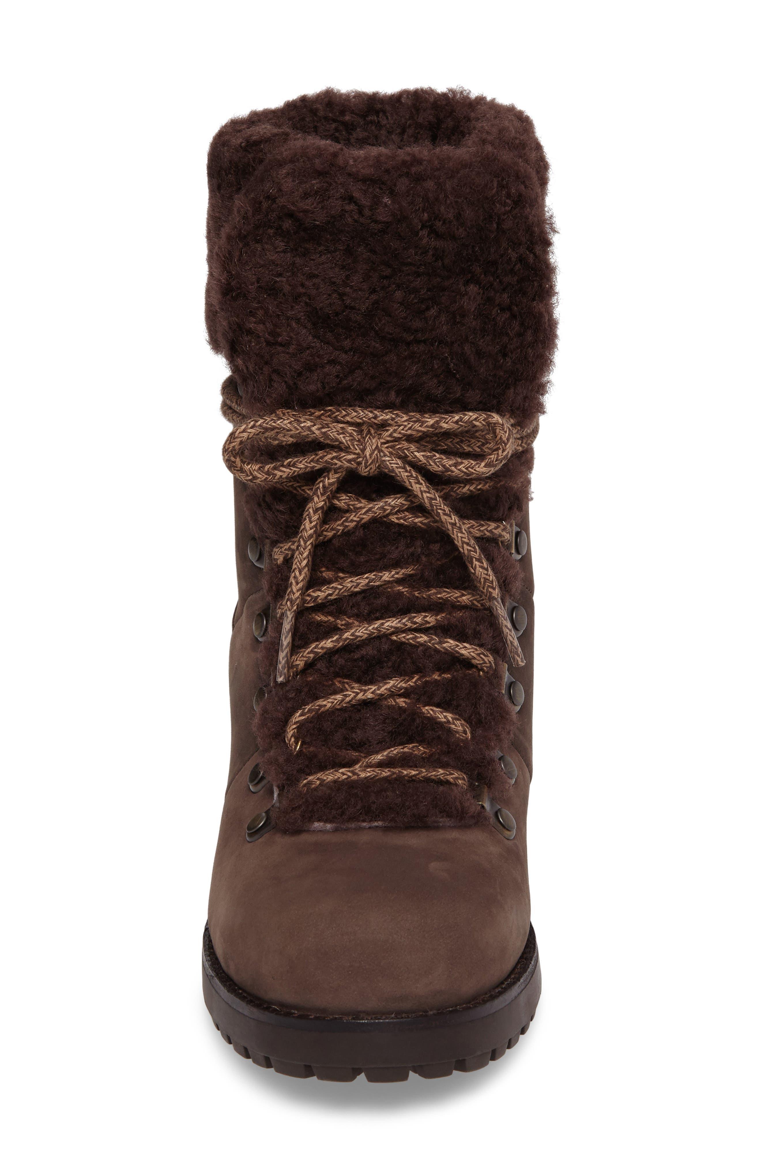 Fraser Genuine Shearling Water Resistant Boot,                             Alternate thumbnail 15, color,