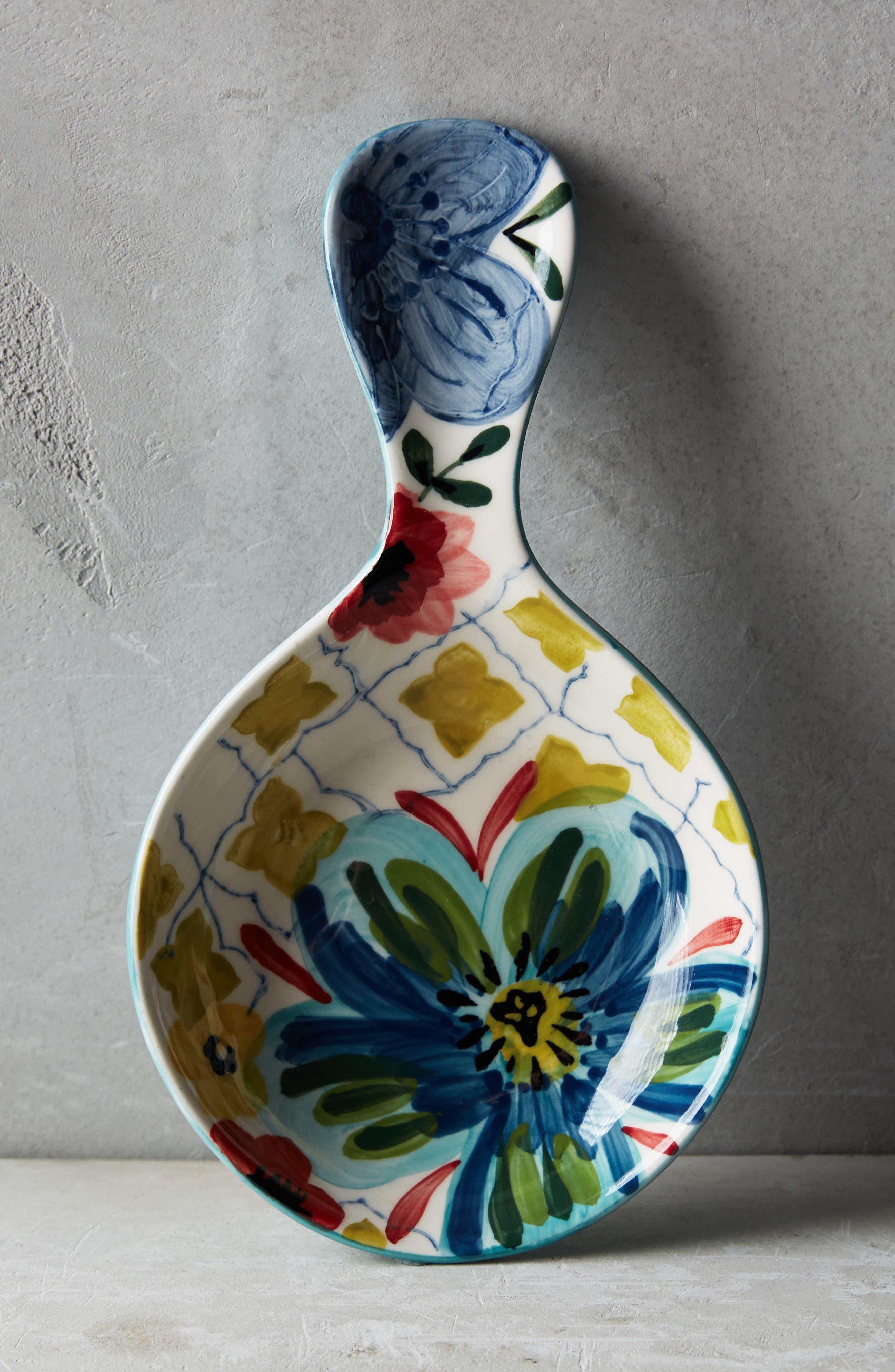ANTHROPOLOGIE,                             Sissinghurst Spoon Rest,                             Main thumbnail 1, color,                             BLUE