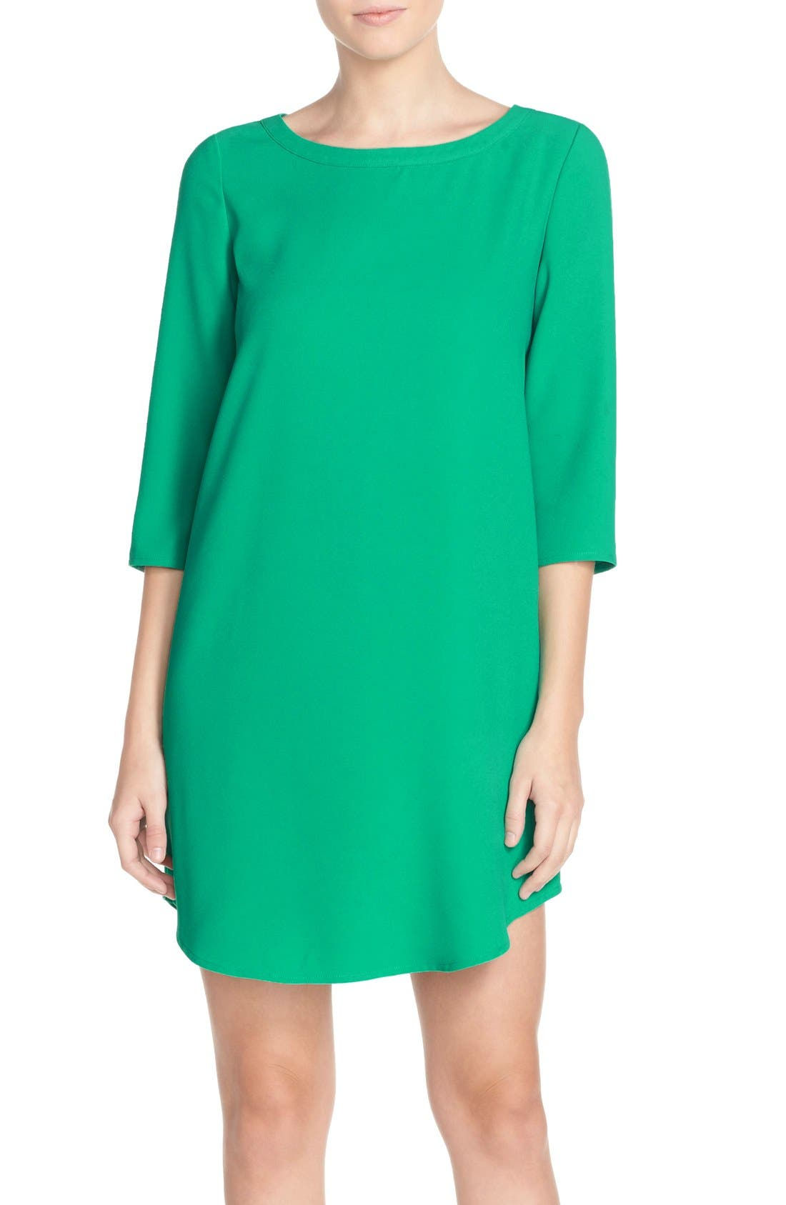 'Jazlyn' Crepe Shift Dress,                             Main thumbnail 2, color,