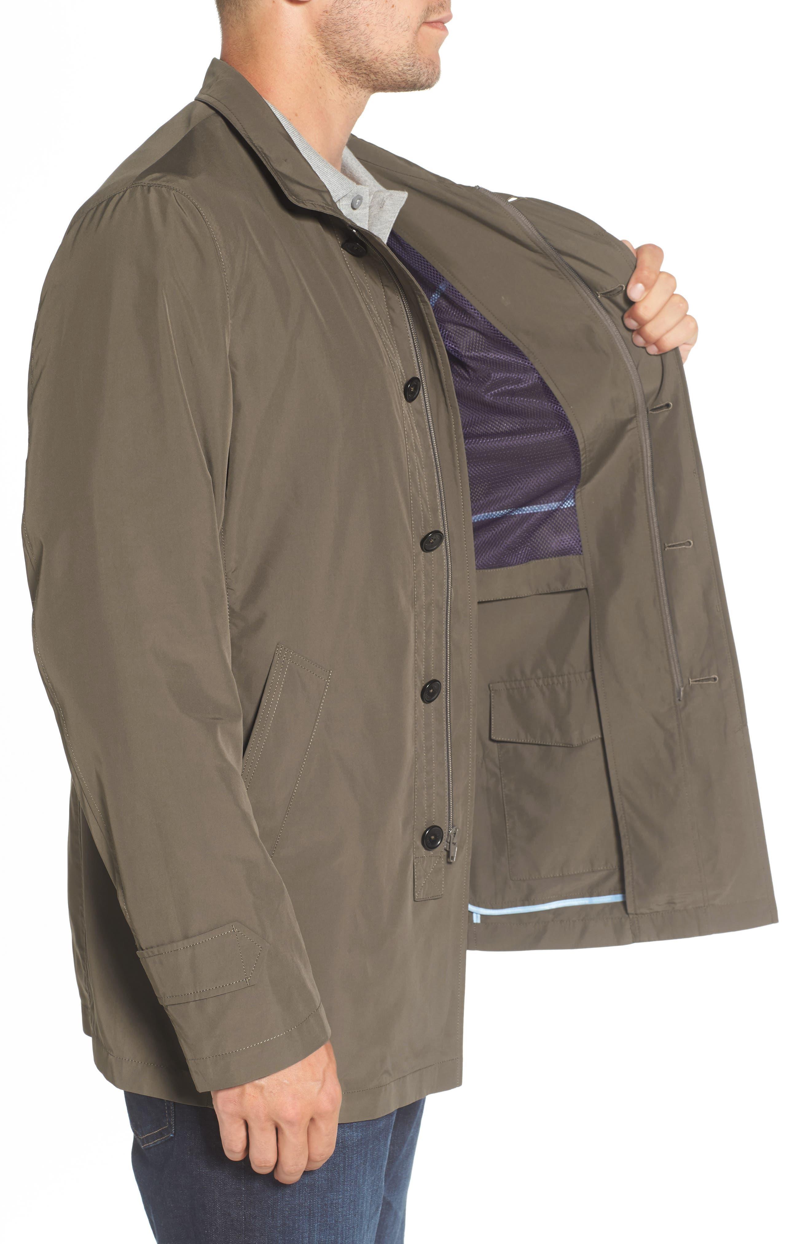 Packable Rain Coat,                             Alternate thumbnail 3, color,                             JAVA