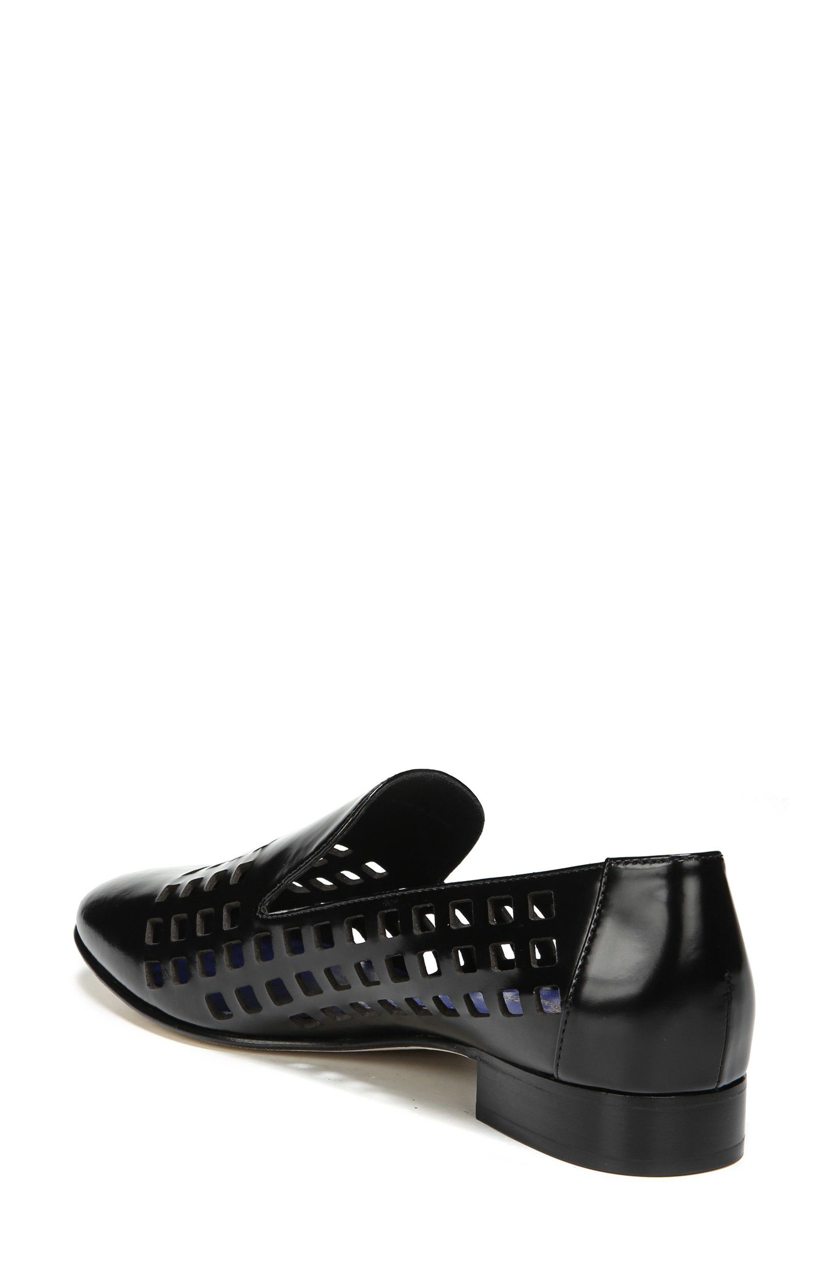Linz Perforated Loafer,                             Alternate thumbnail 2, color,                             001