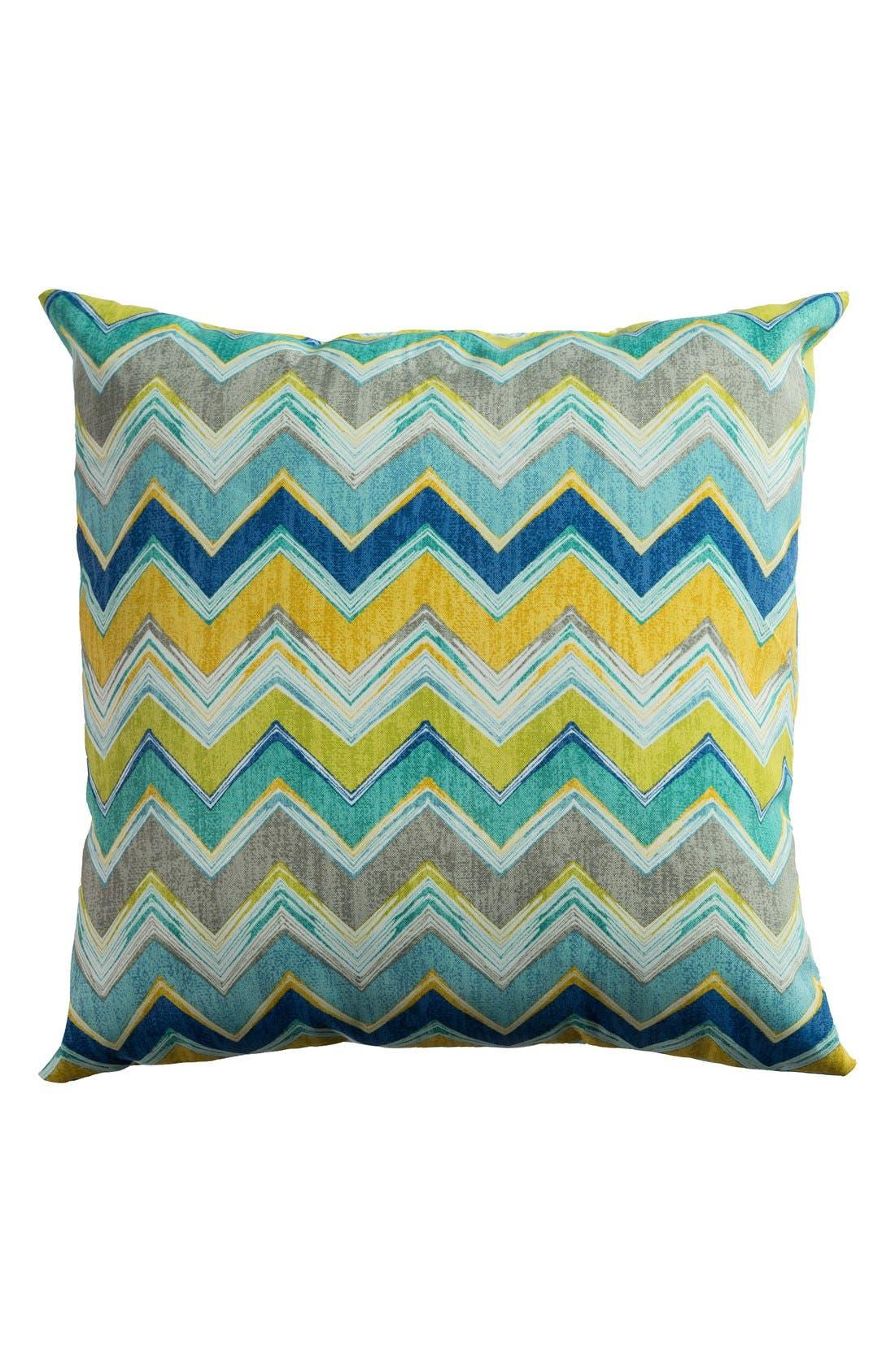 Chevron Outdoor Pillow,                             Main thumbnail 4, color,
