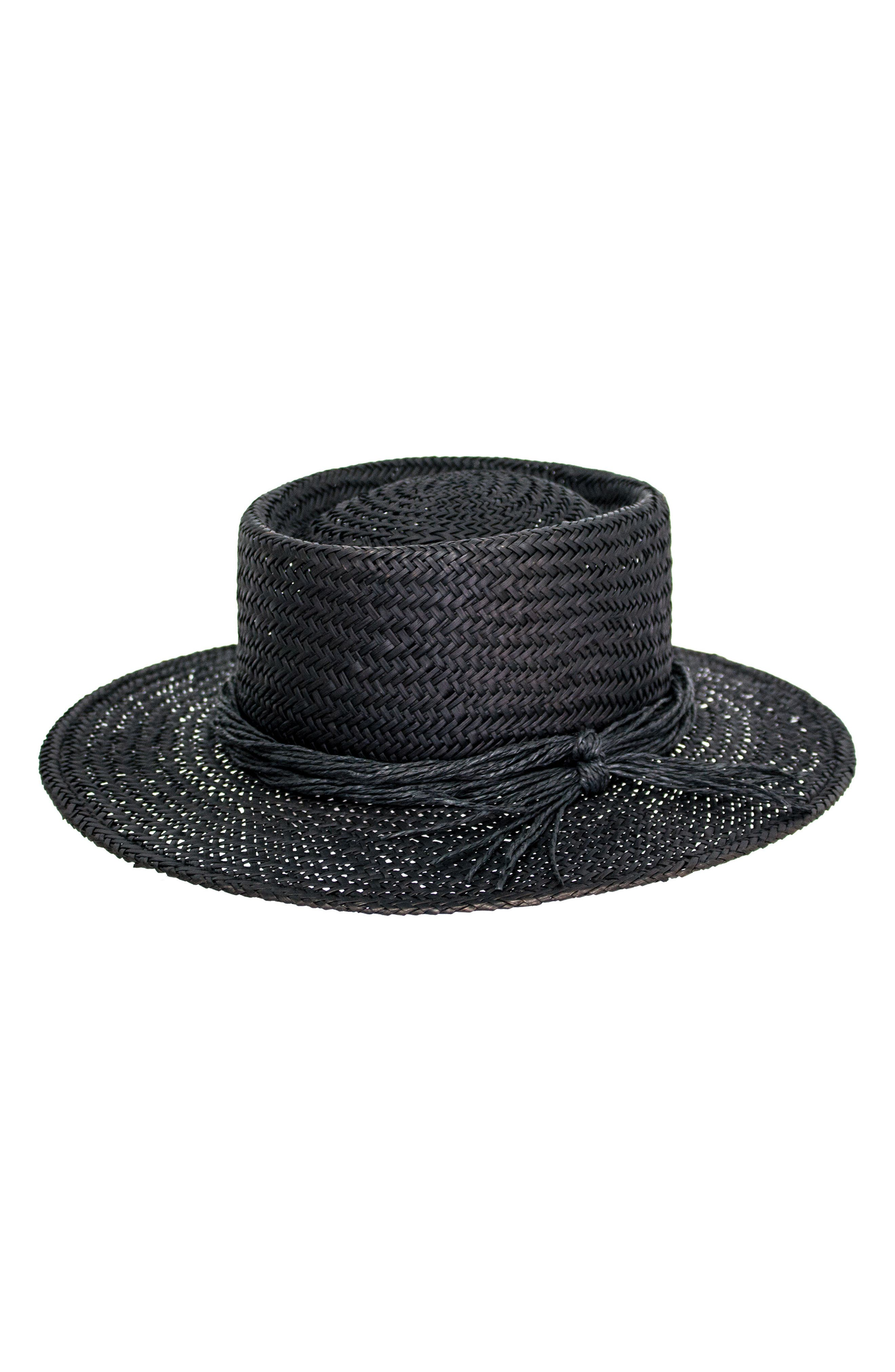 Borden Straw Resort Hat,                             Main thumbnail 1, color,                             001
