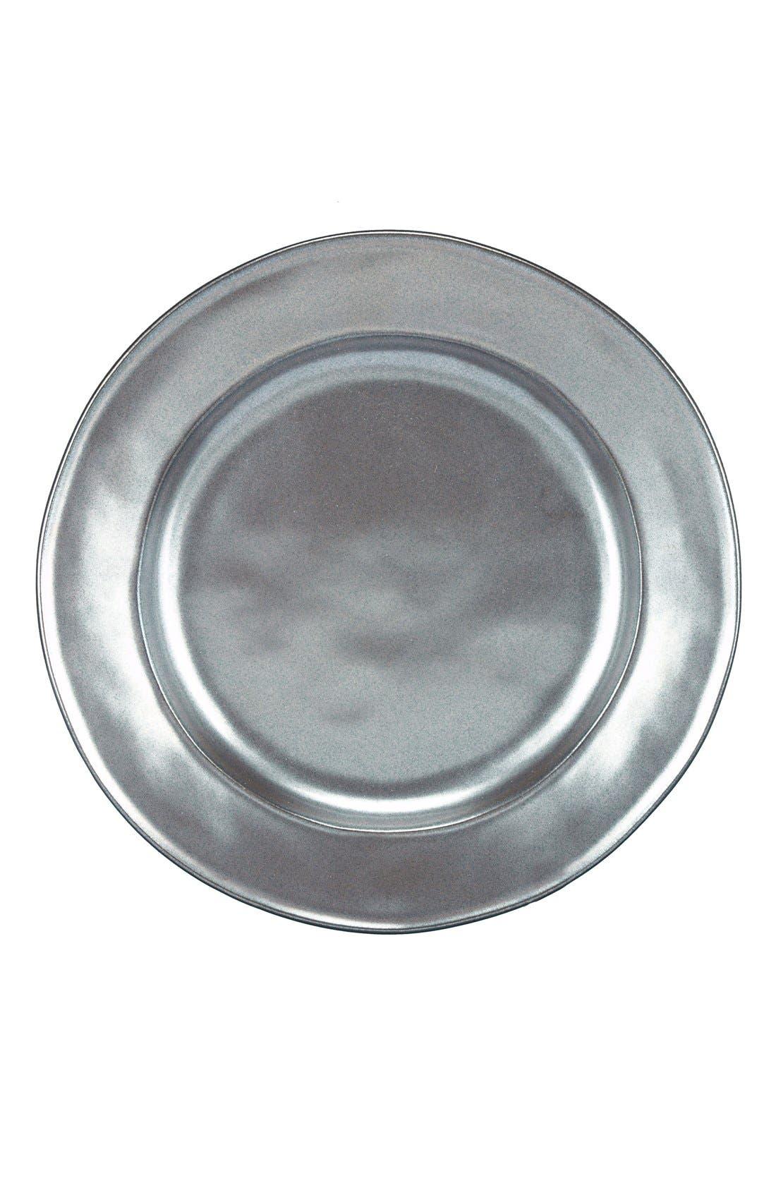 'Pewter' Ceramic Salad Plate,                         Main,                         color, PEWTER