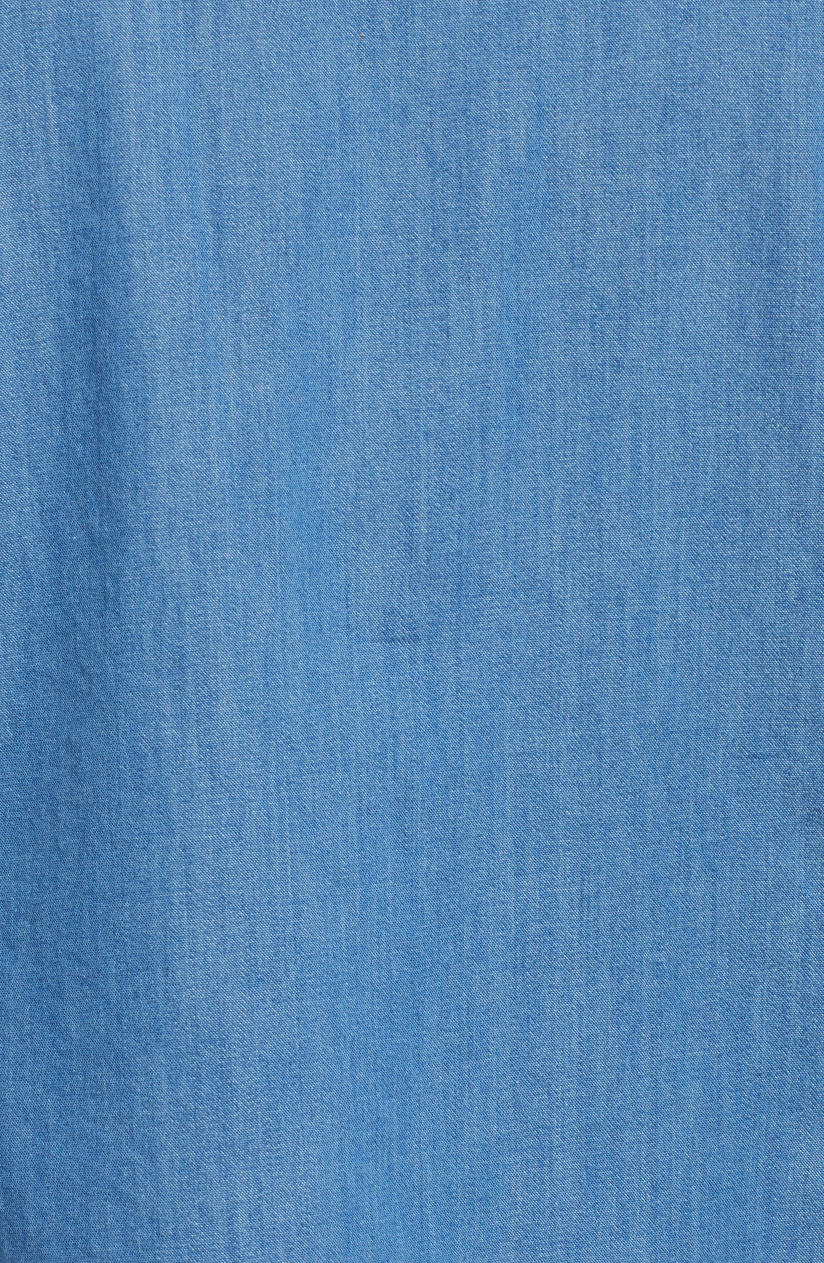Fitted Chambray Shirt,                             Alternate thumbnail 6, color,                             ROBIN INDIGO
