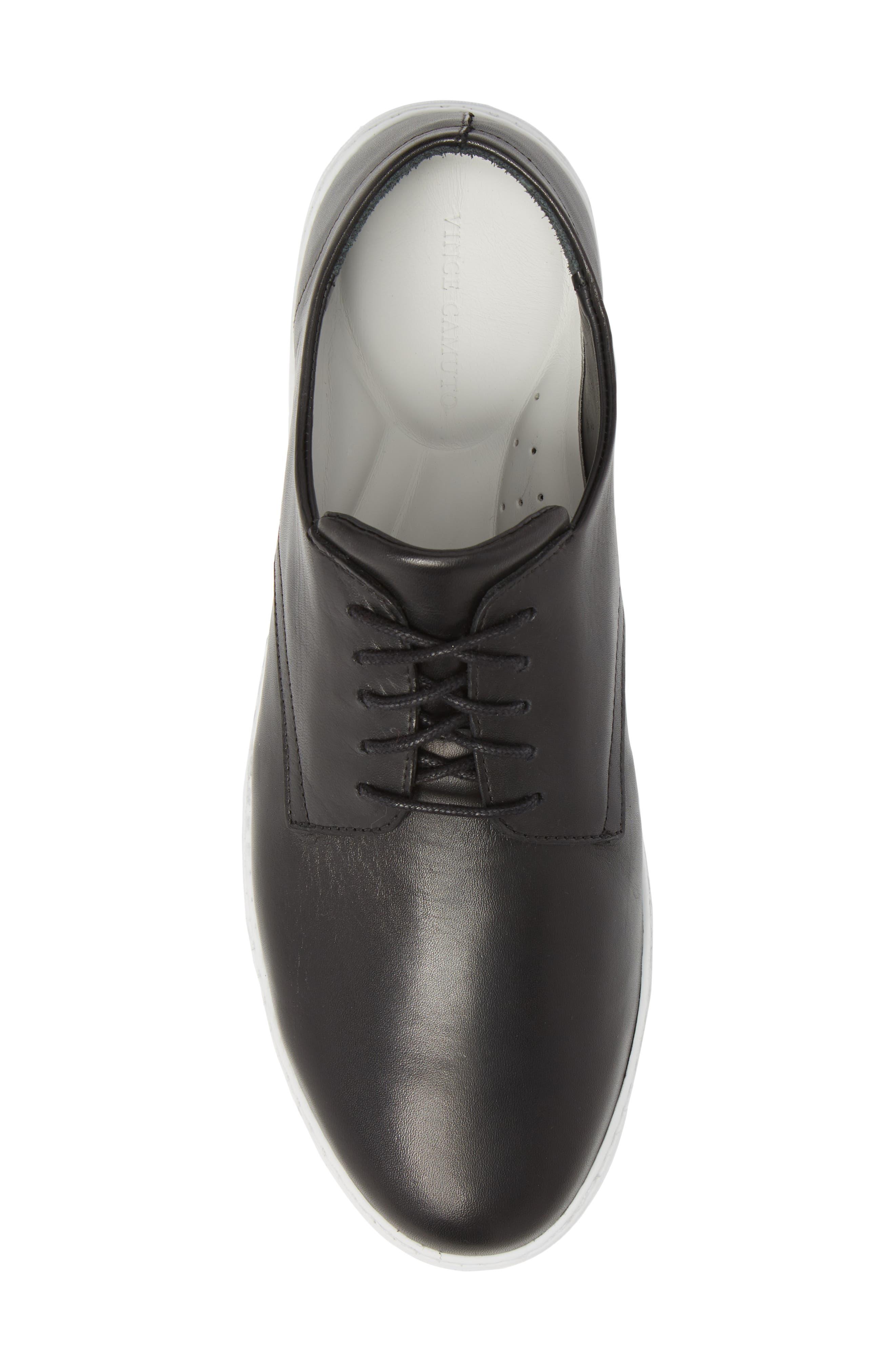 Nok Derby Sneaker,                             Alternate thumbnail 5, color,                             BLACK LEATHER