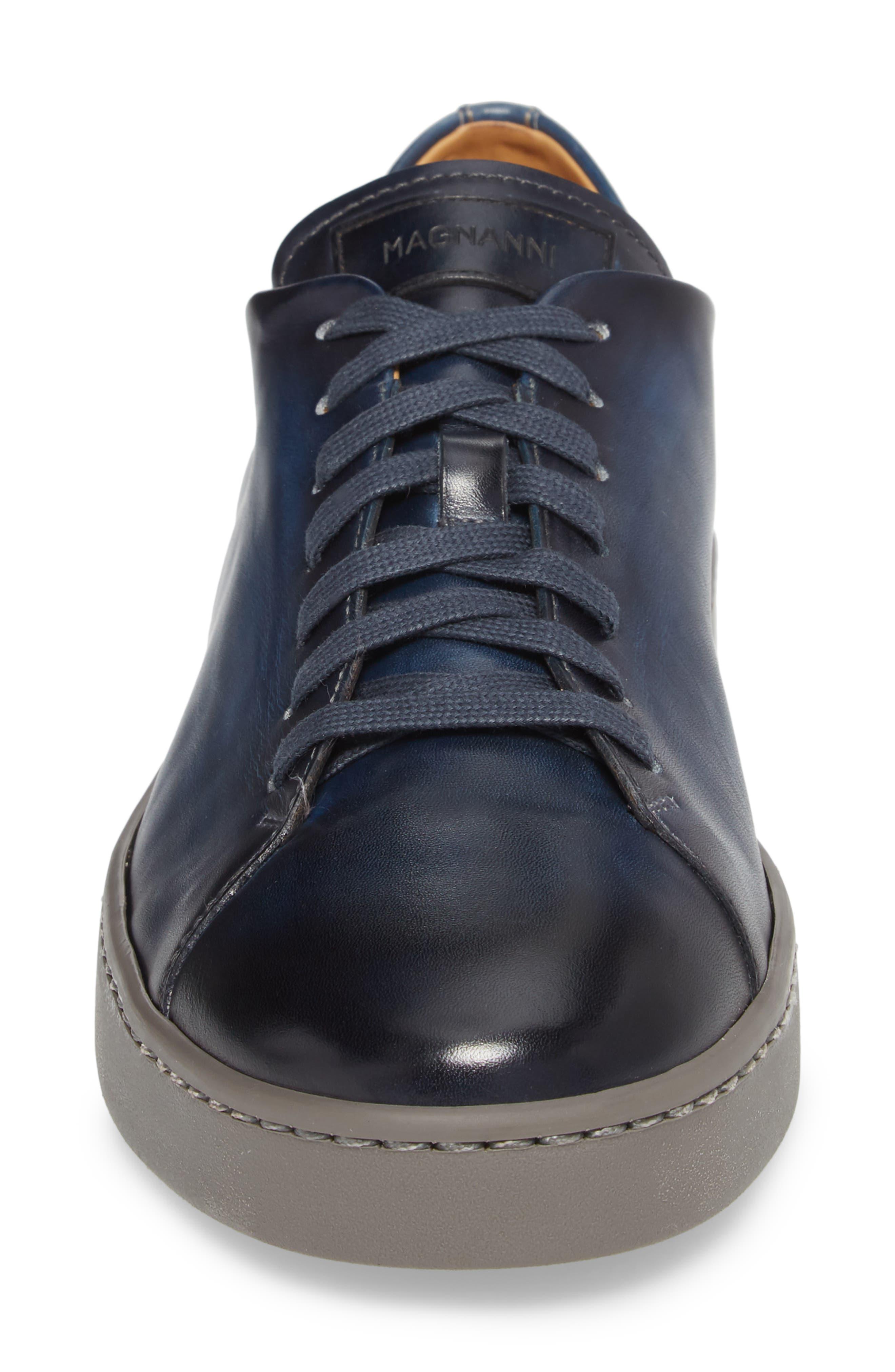 Belmont Lo Sneaker,                             Alternate thumbnail 4, color,                             NAVY LEATHER