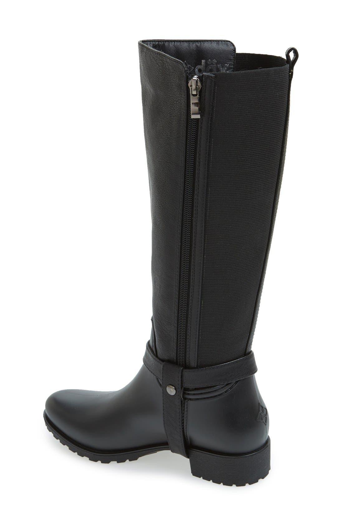DÄV,                             'Kingston' Water Resistant Boot,                             Alternate thumbnail 2, color,                             BLACK