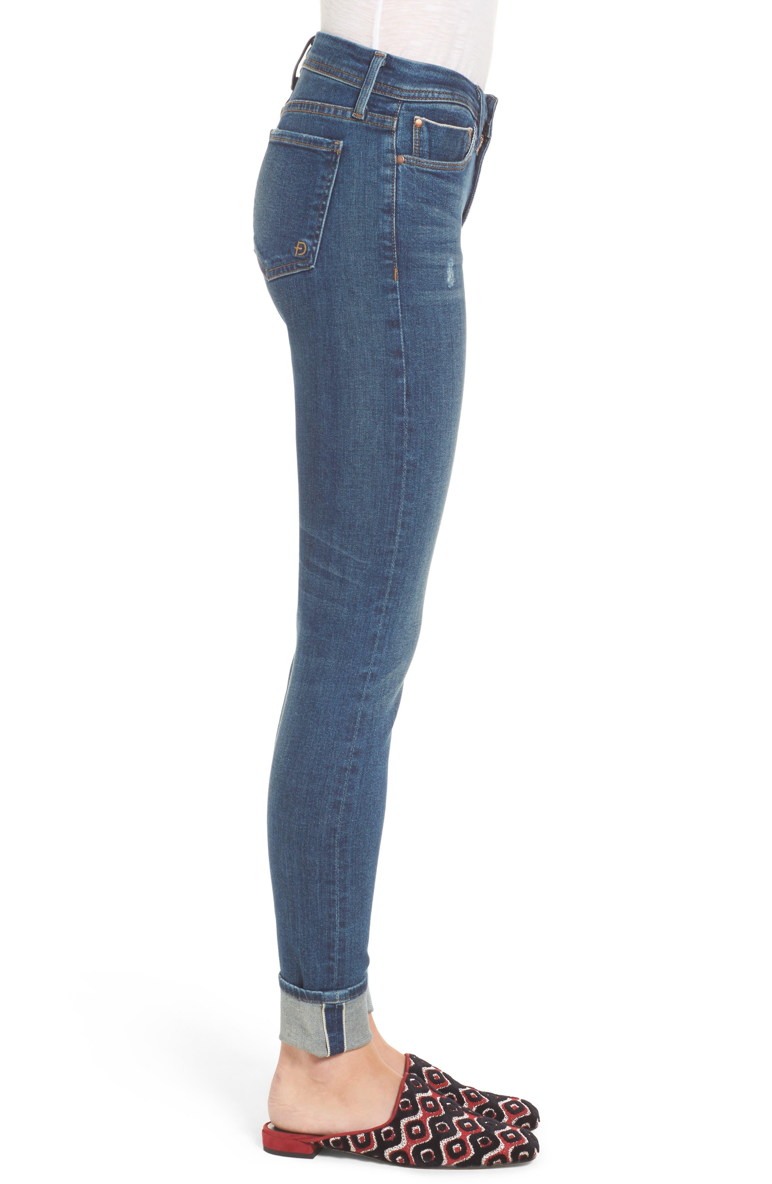 Belvedere Crop Skinny Jeans,                             Alternate thumbnail 3, color,