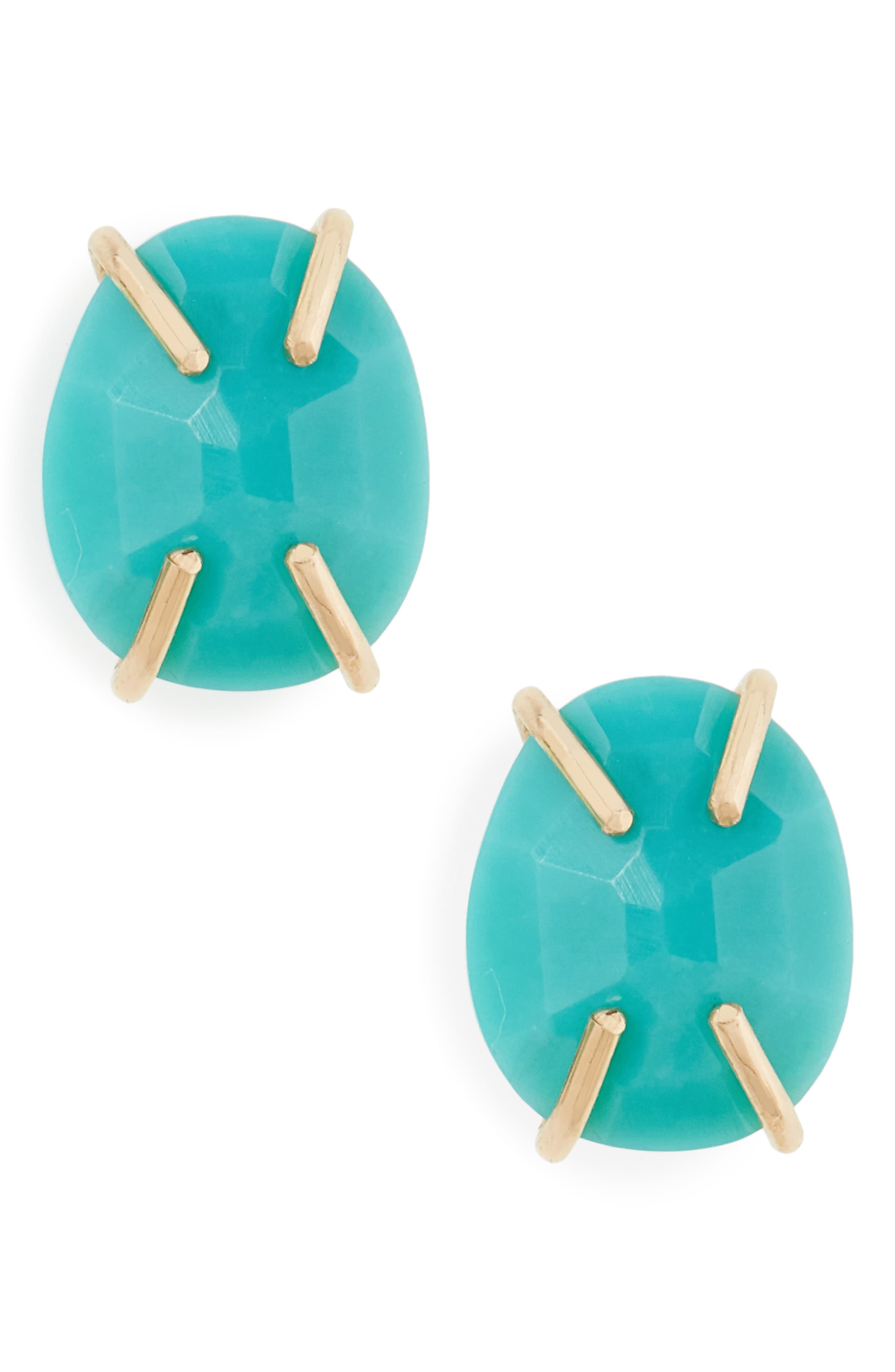 Turquoise Prong Stud Earrings,                         Main,                         color, 710