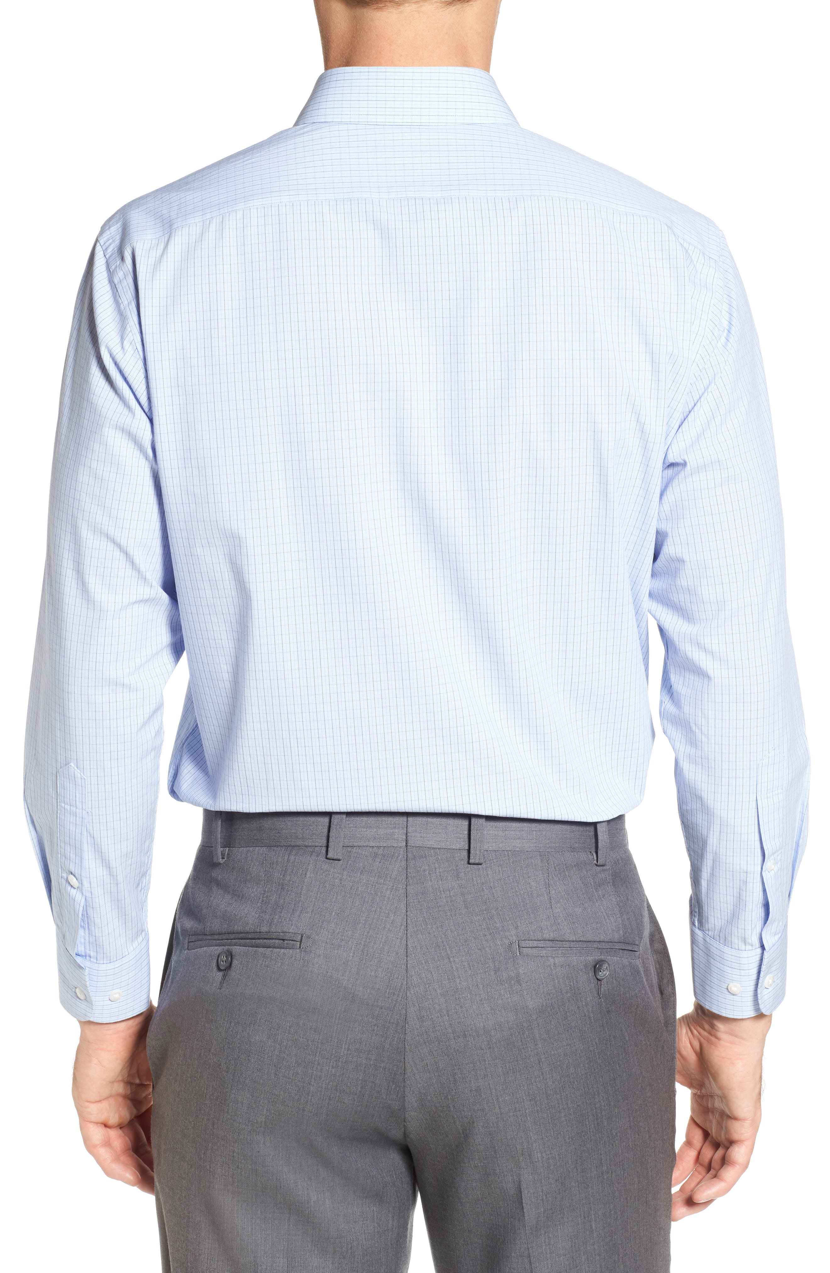 Tech-Smart Traditional Fit Stretch Tattersall Dress Shirt,                             Alternate thumbnail 2, color,                             420