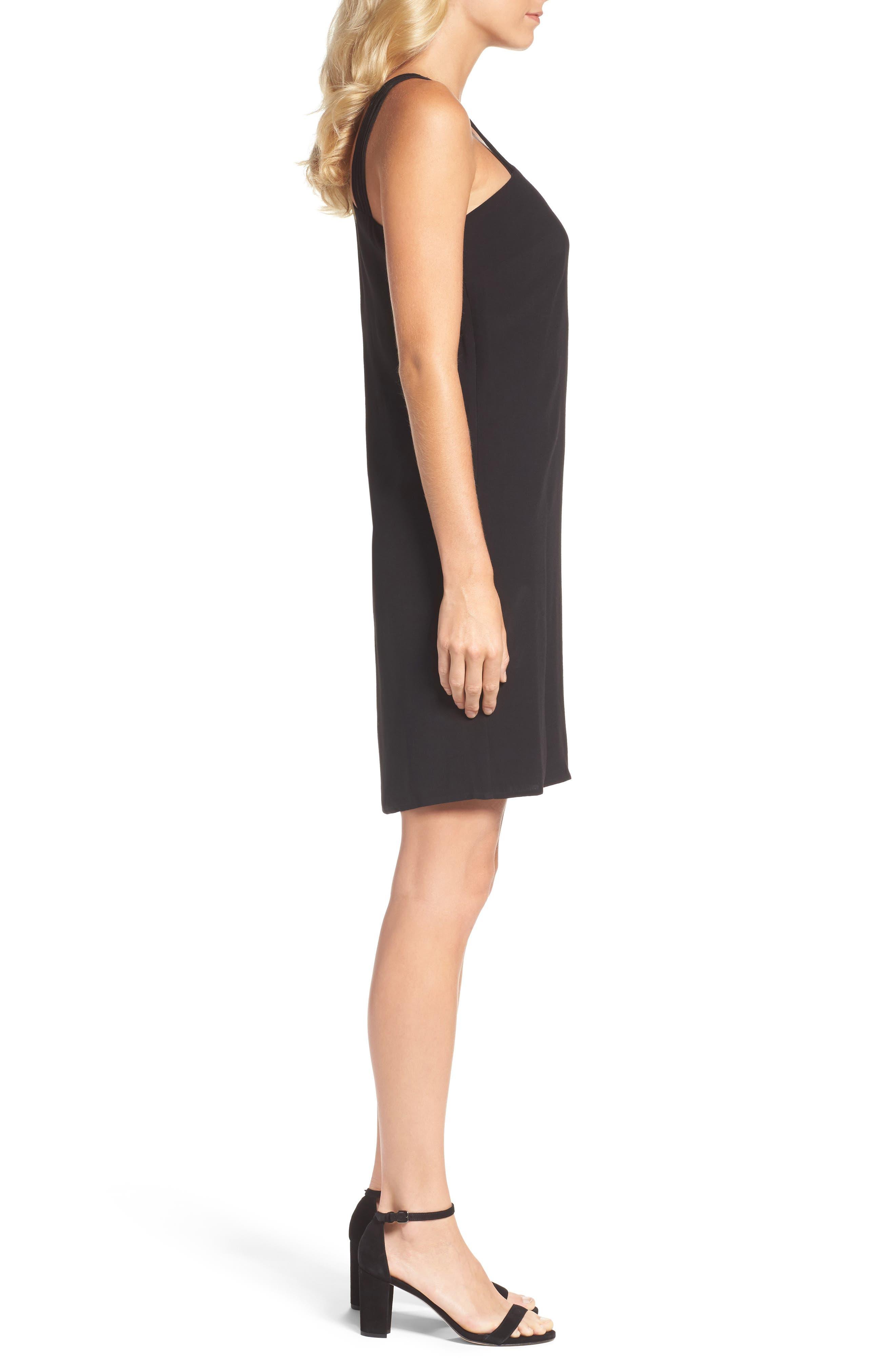 One-Shoulder Sheath Dress,                             Alternate thumbnail 3, color,                             004