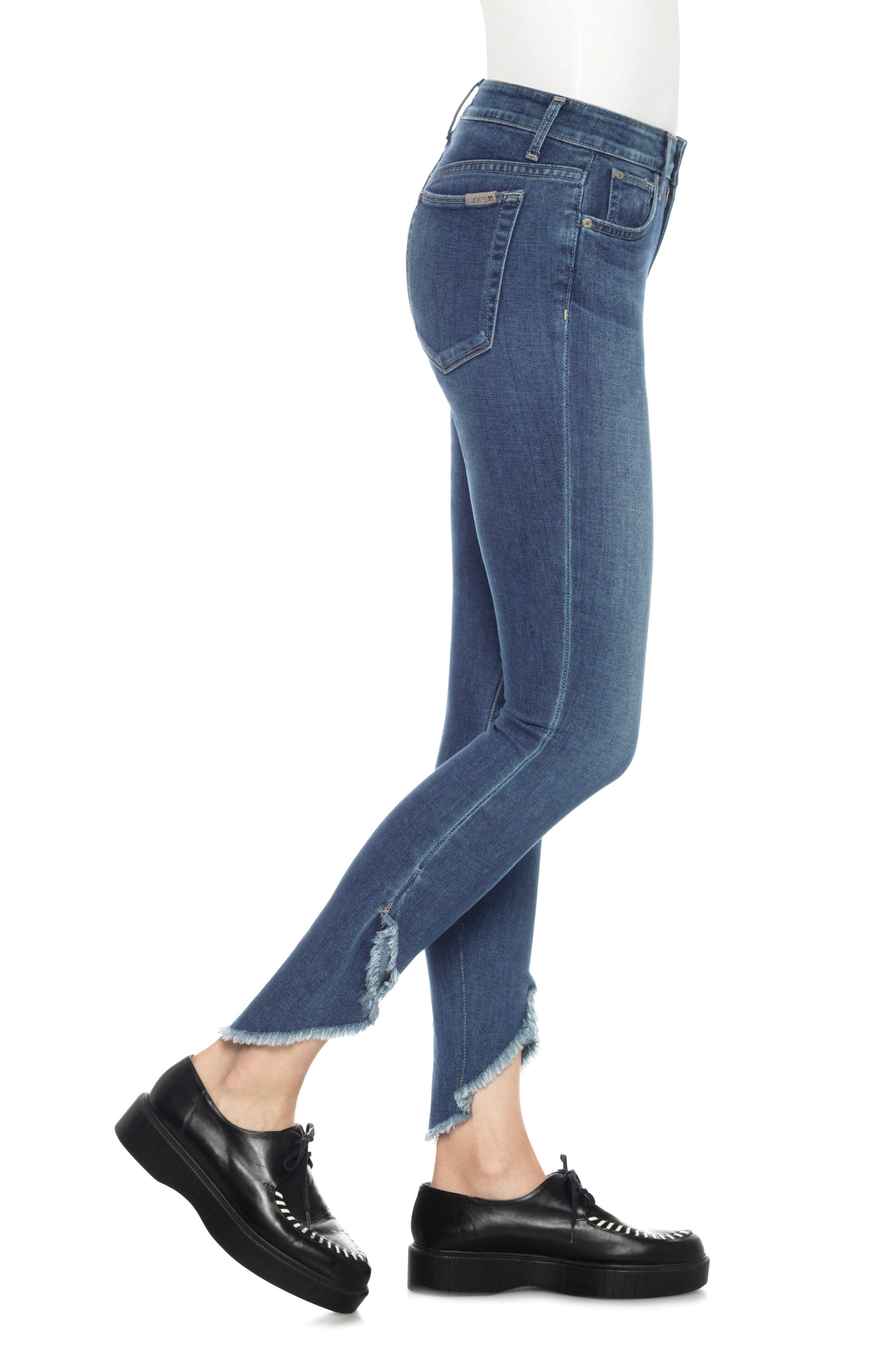 Icon Tulip Hem Skinny Jeans,                             Alternate thumbnail 3, color,                             411