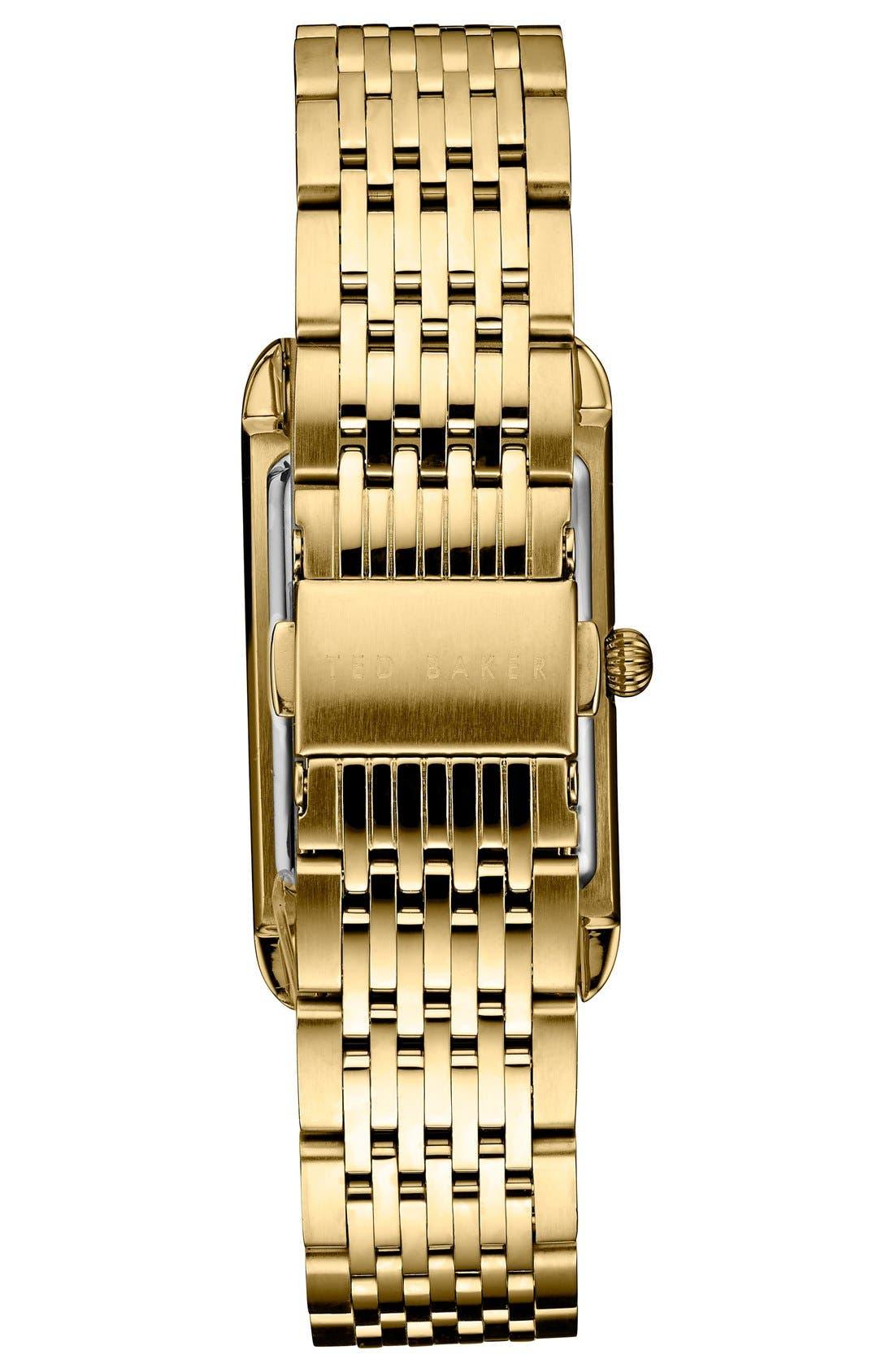 Rectangle Case Bracelet Watch, 23mm,                             Alternate thumbnail 2, color,                             710