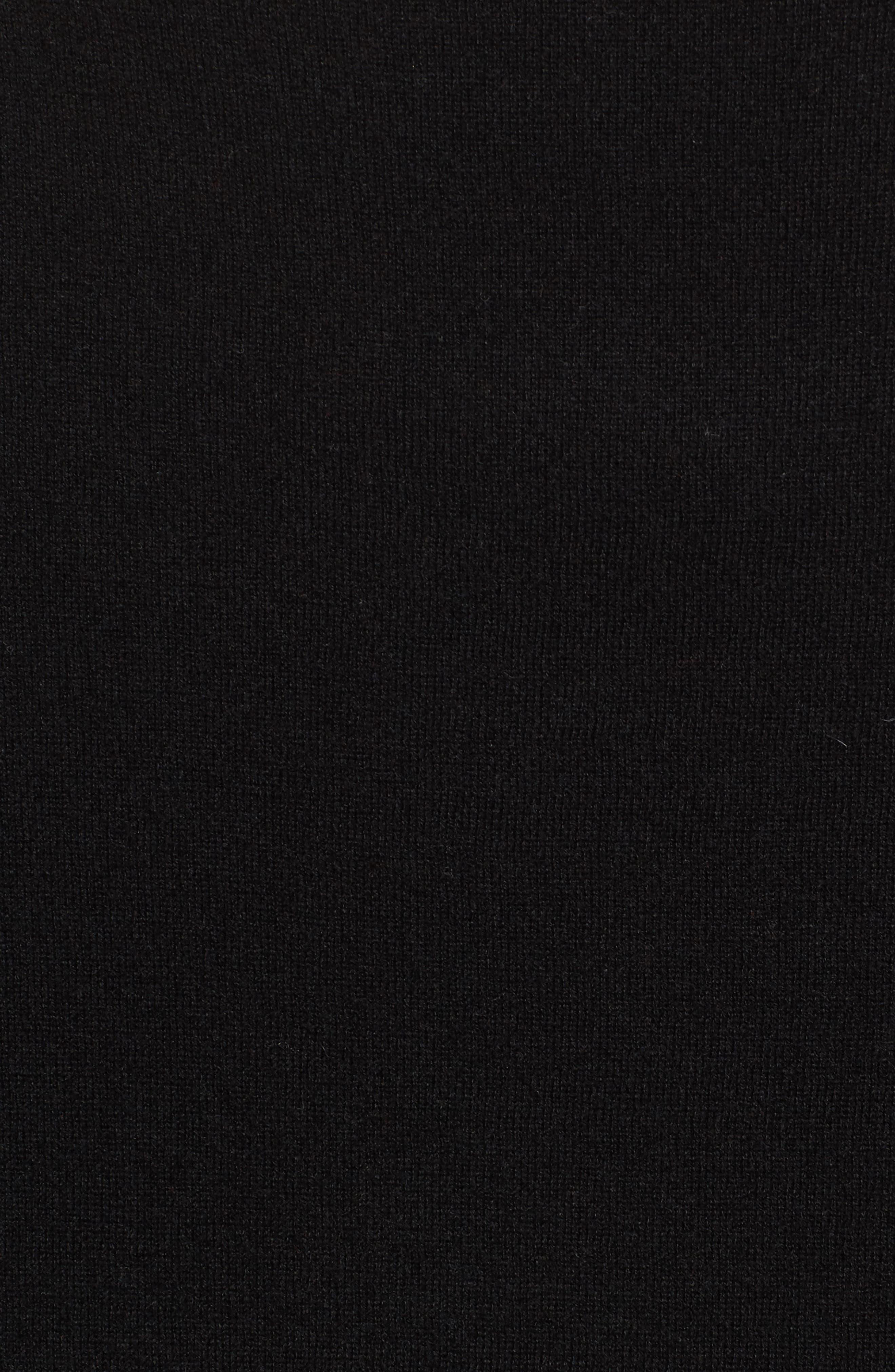 Cashmere Poncho,                             Alternate thumbnail 5, color,                             001