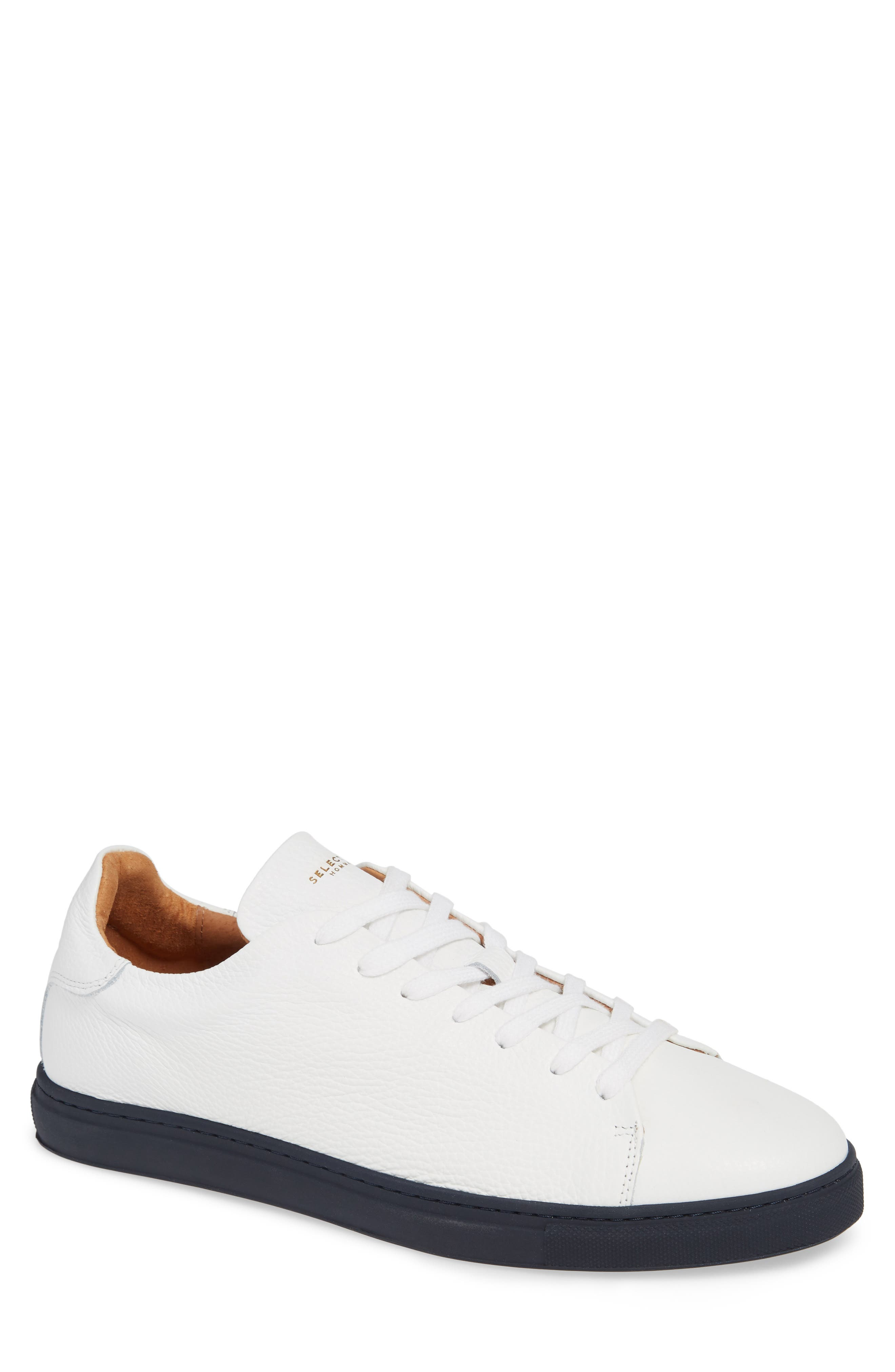 David Sneaker,                             Main thumbnail 1, color,                             WHITE/ DARK NAVY SOLE