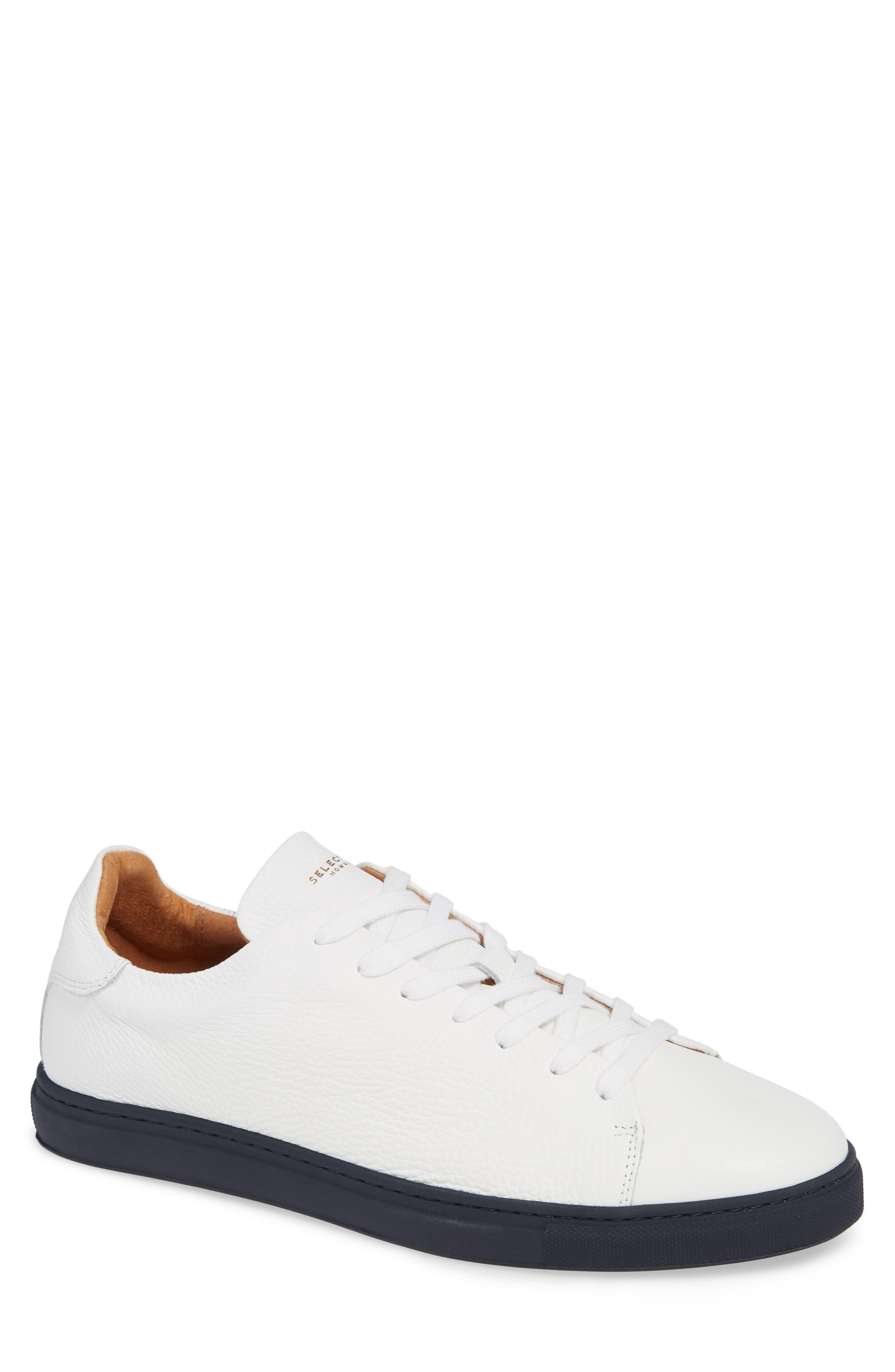 David Sneaker,                         Main,                         color, WHITE/ DARK NAVY SOLE