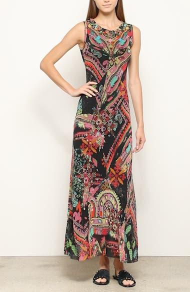 Print Tulle Maxi Dress, video thumbnail