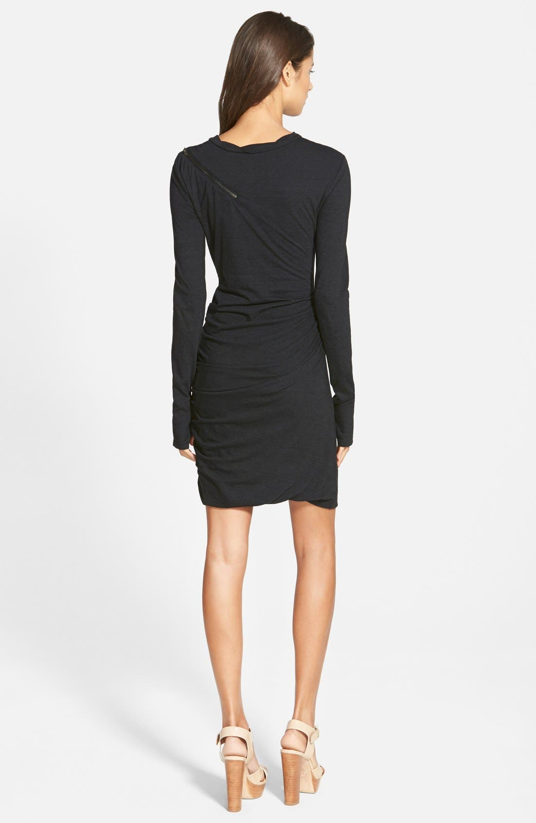 Zip Detail Dress,                             Alternate thumbnail 2, color,                             001