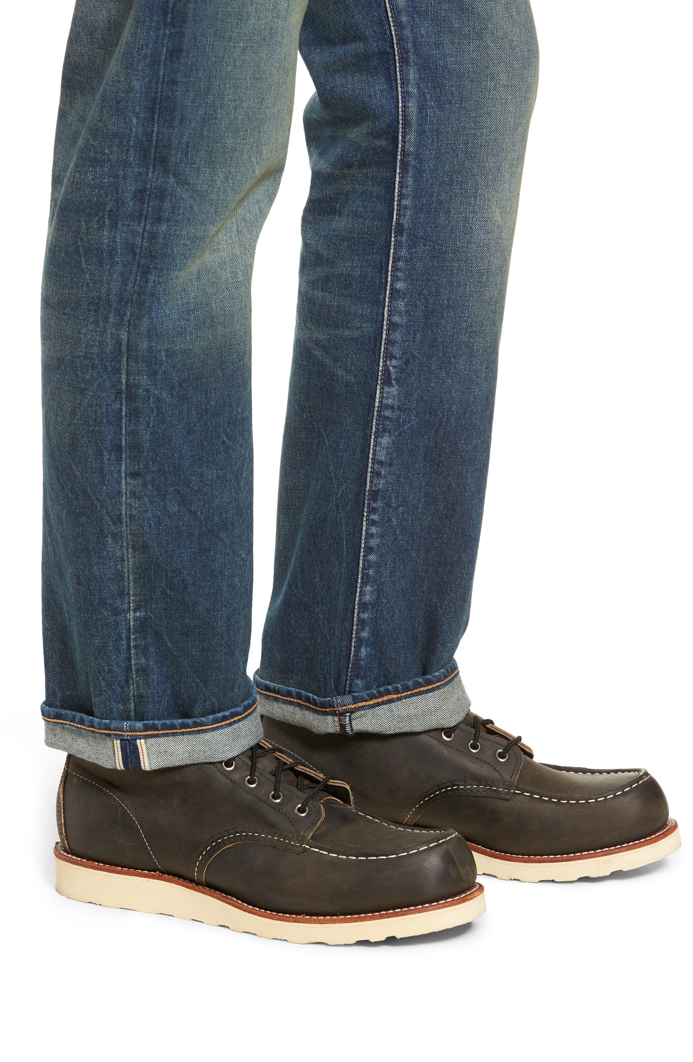 501<sup>®</sup> Original Straight Leg Selvedge Jeans,                             Alternate thumbnail 4, color,                             401