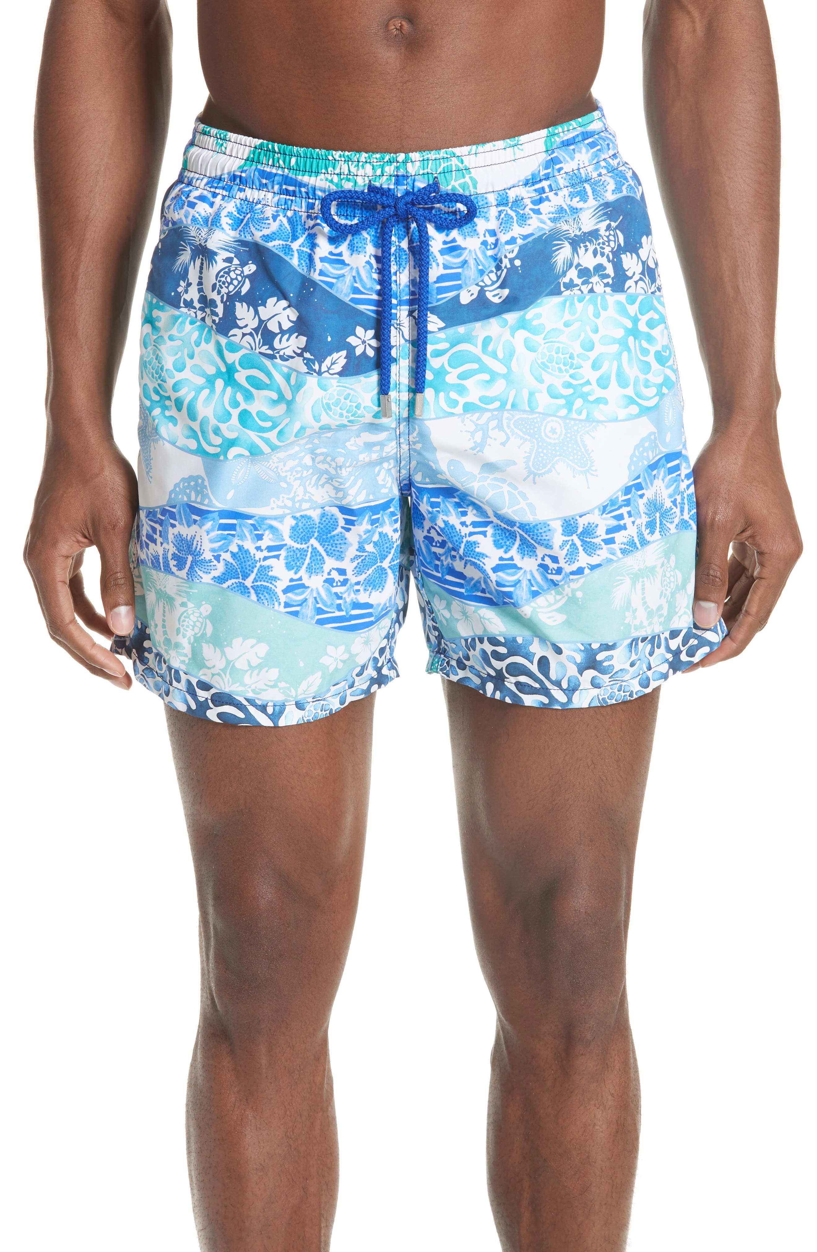 Vagues Heritage Swim Trunks,                         Main,                         color, NAVY