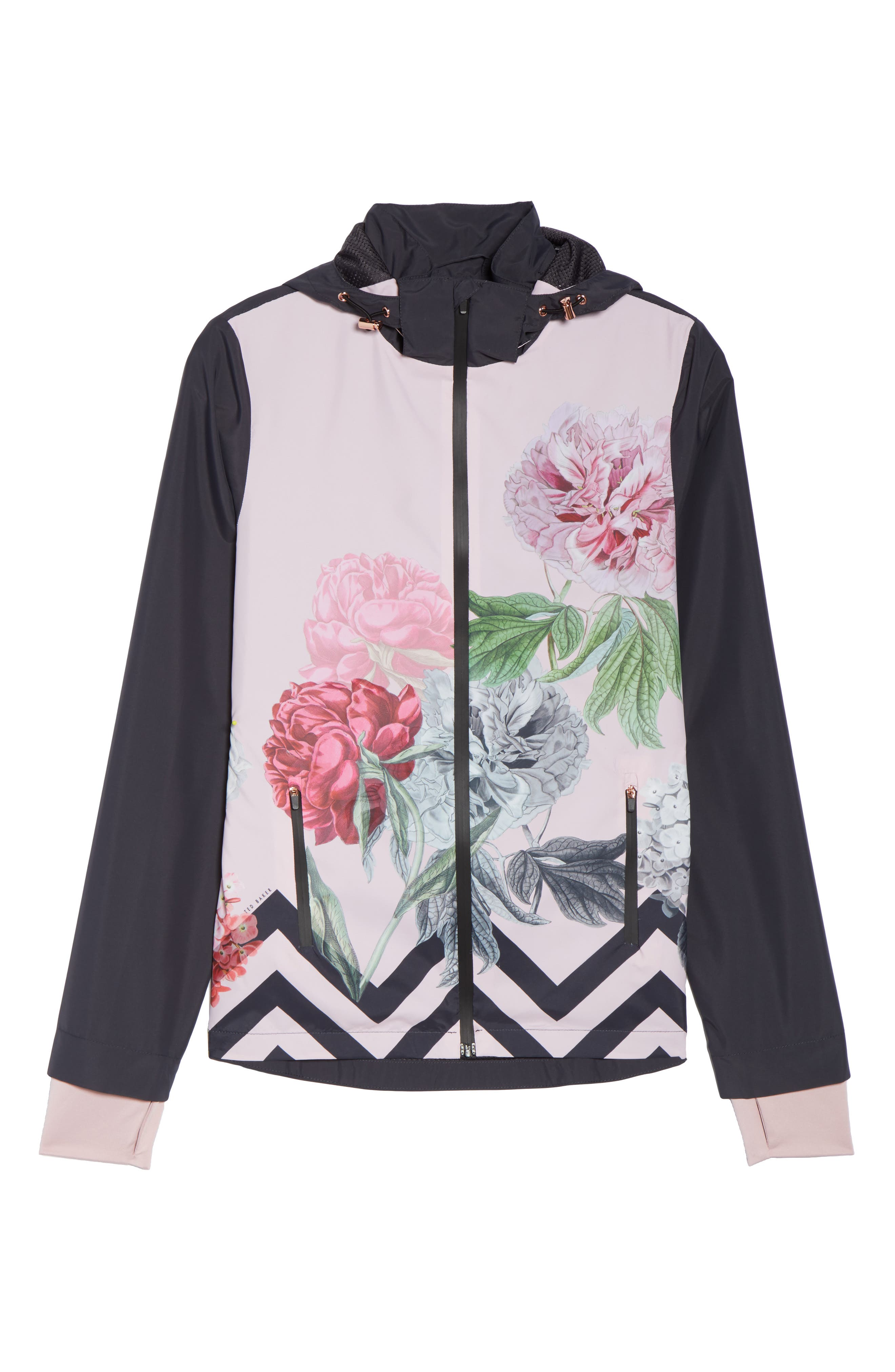 Palace Gardens Print Hooded Jacket,                             Alternate thumbnail 6, color,                             005