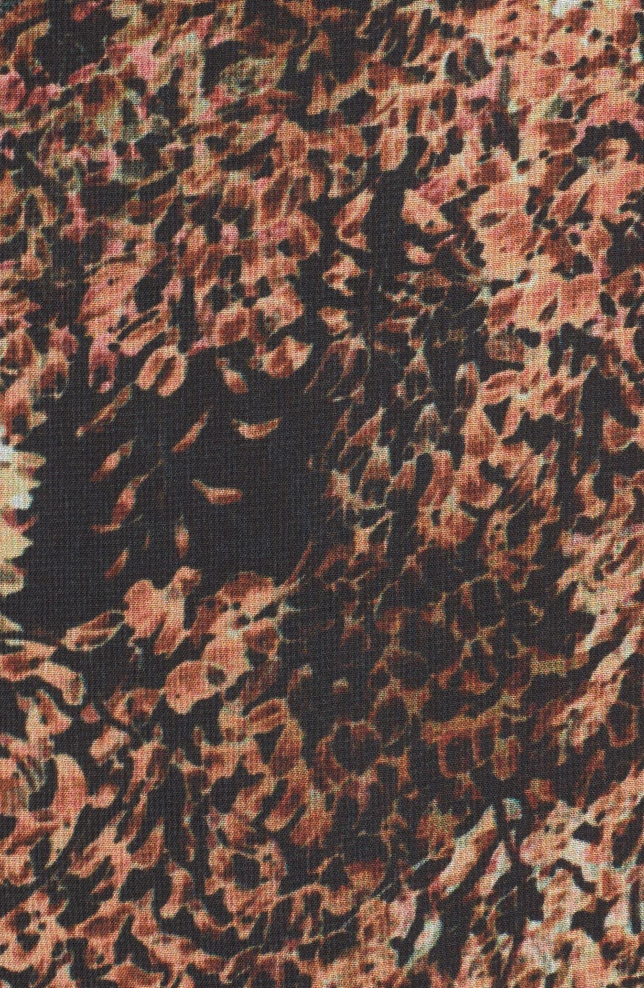 Floral Popover Drape Top,                             Alternate thumbnail 5, color,                             230