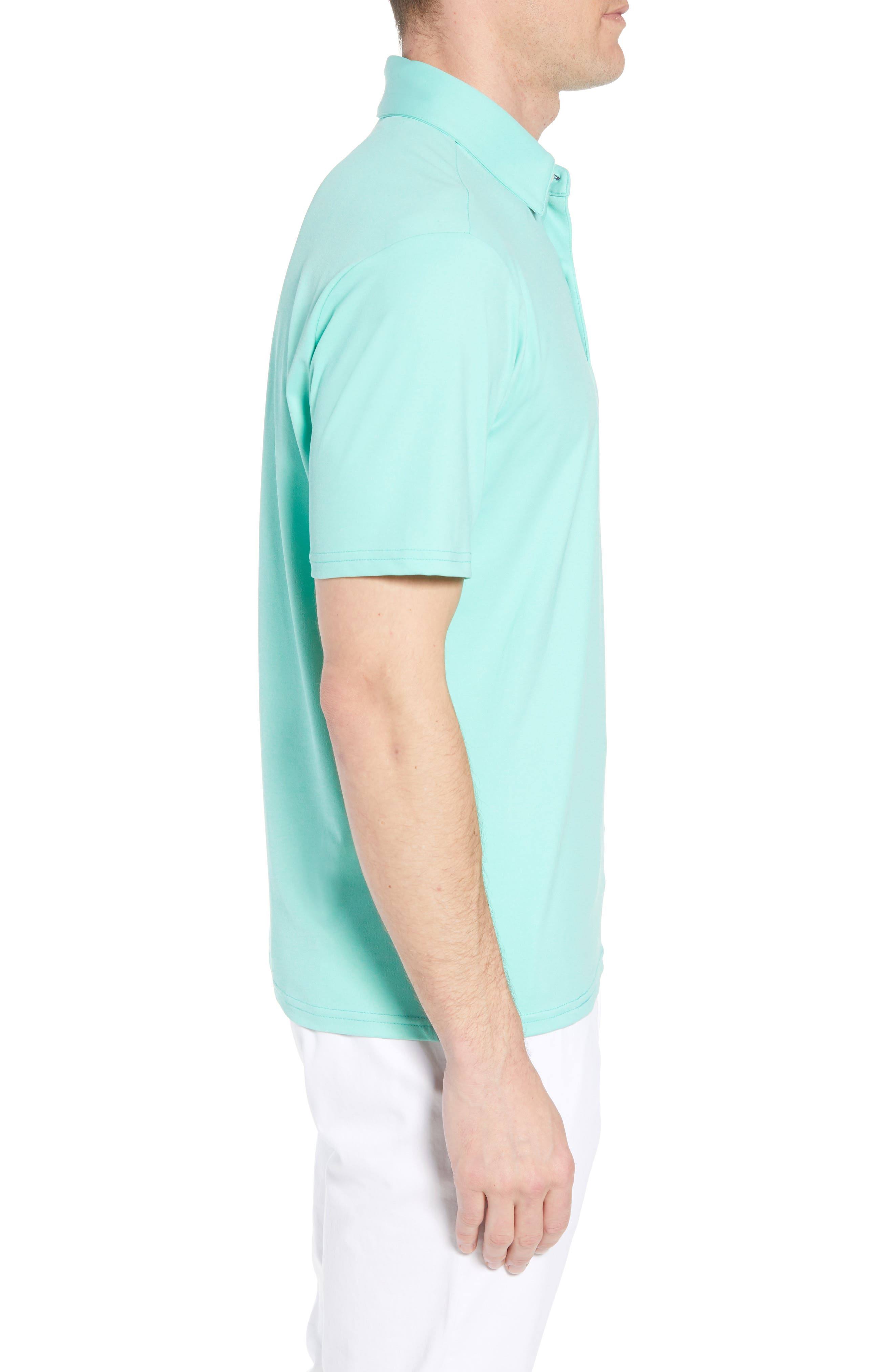 Slim Fit Active Polo,                             Alternate thumbnail 3, color,                             GREEN