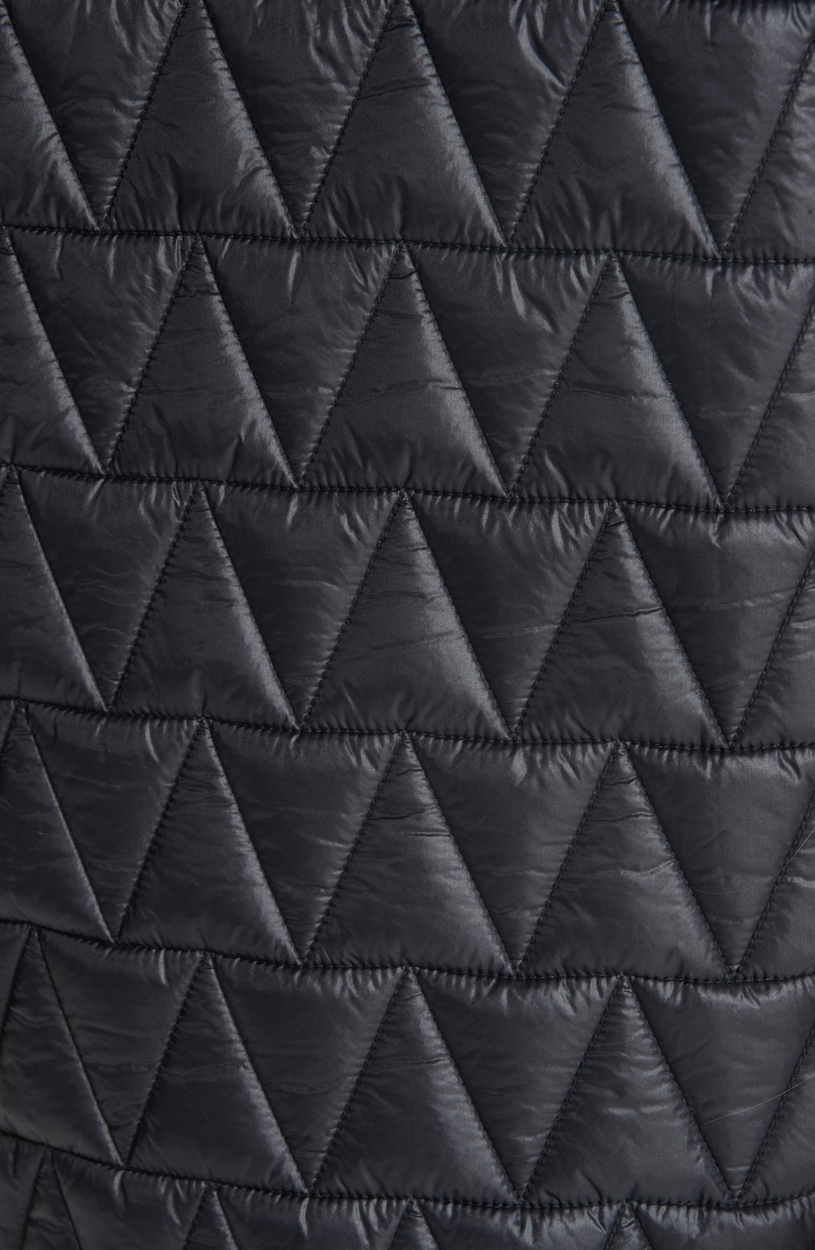 Hooded Quilted Coat,                             Alternate thumbnail 6, color,                             001