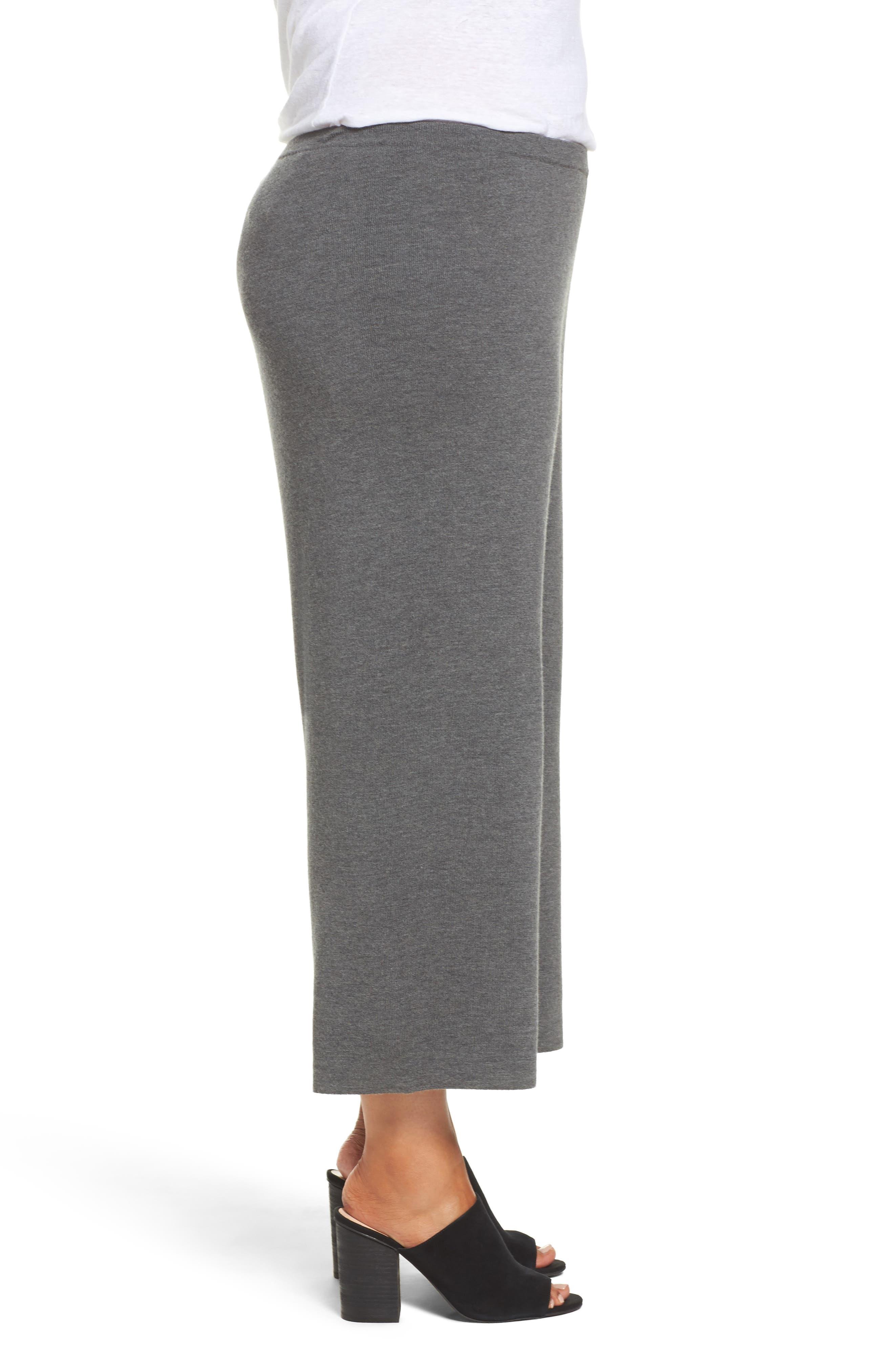 Wide Leg Crop Wool Pants,                             Alternate thumbnail 6, color,
