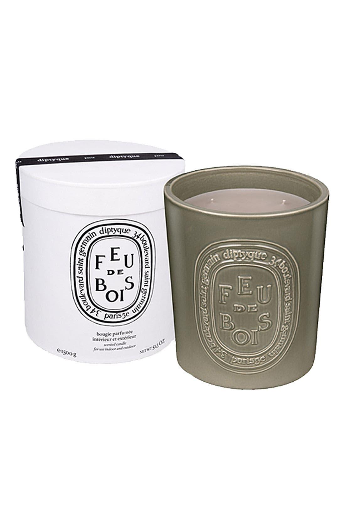Feu de Bois/Wood Fire Large Scented Candle,                         Main,                         color, NO COLOR