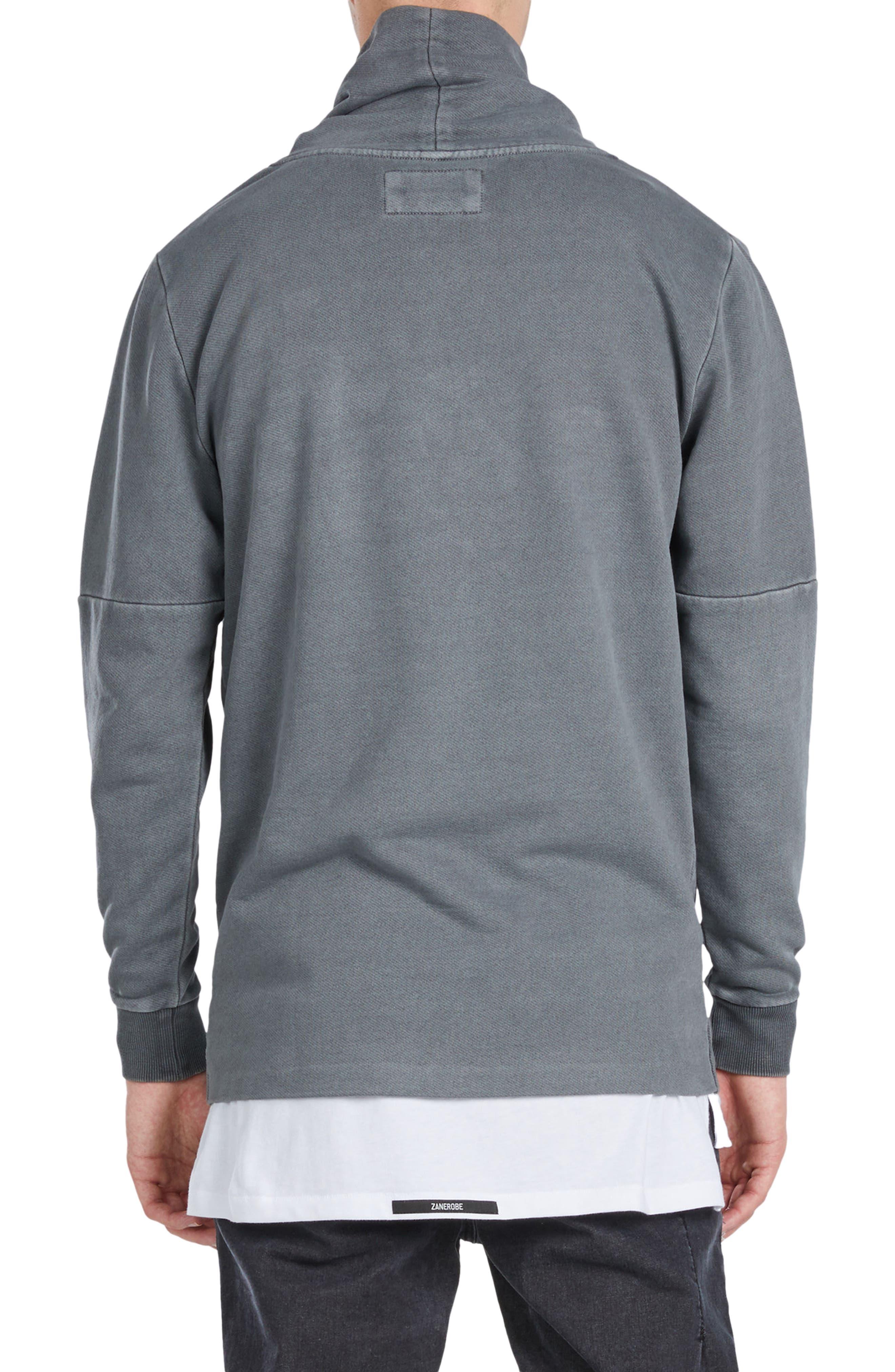 Mock Neck Sweatshirt,                             Alternate thumbnail 3, color,
