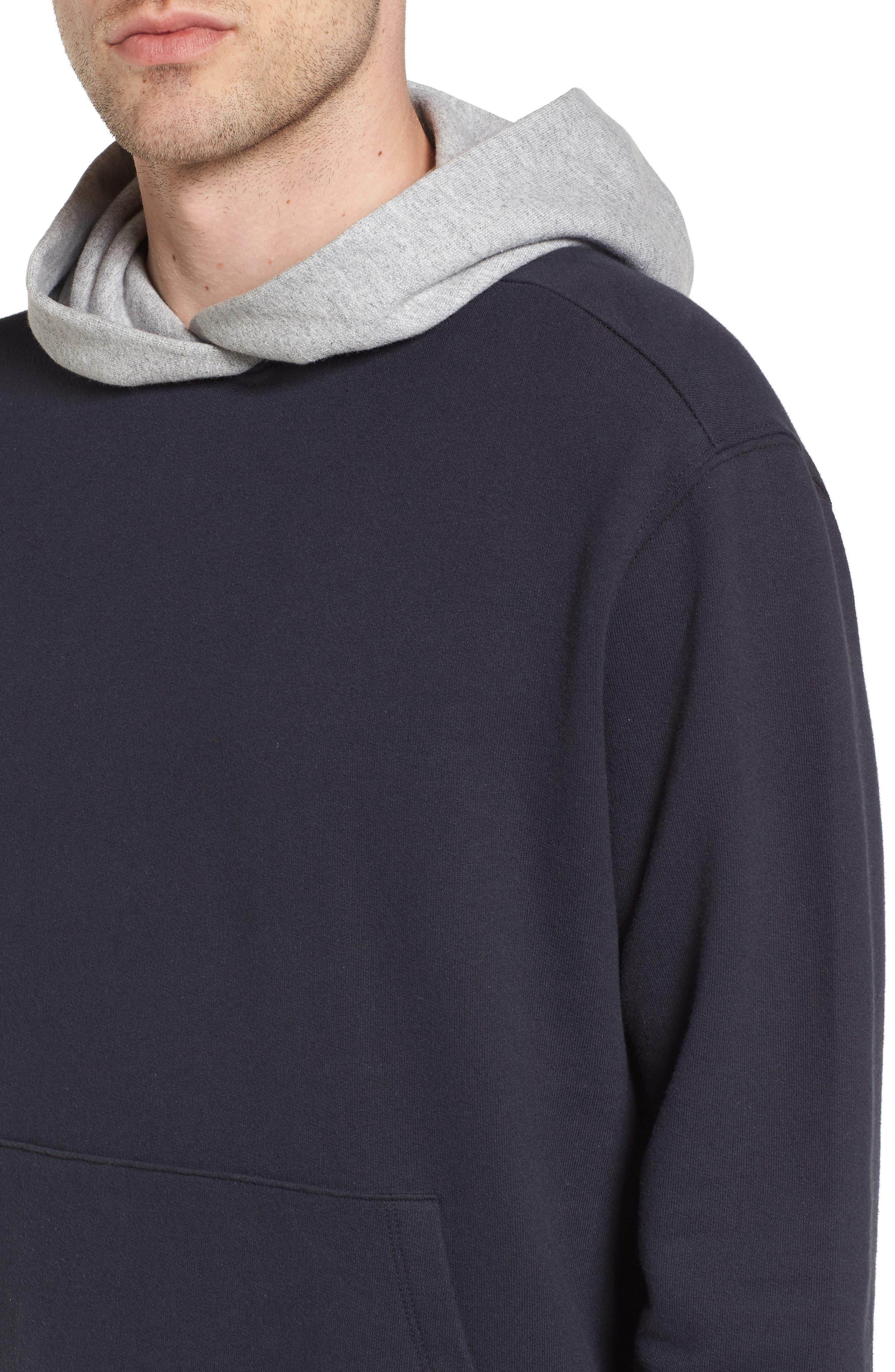 Colorblock Hoodie Sweatshirt,                             Alternate thumbnail 4, color,                             001