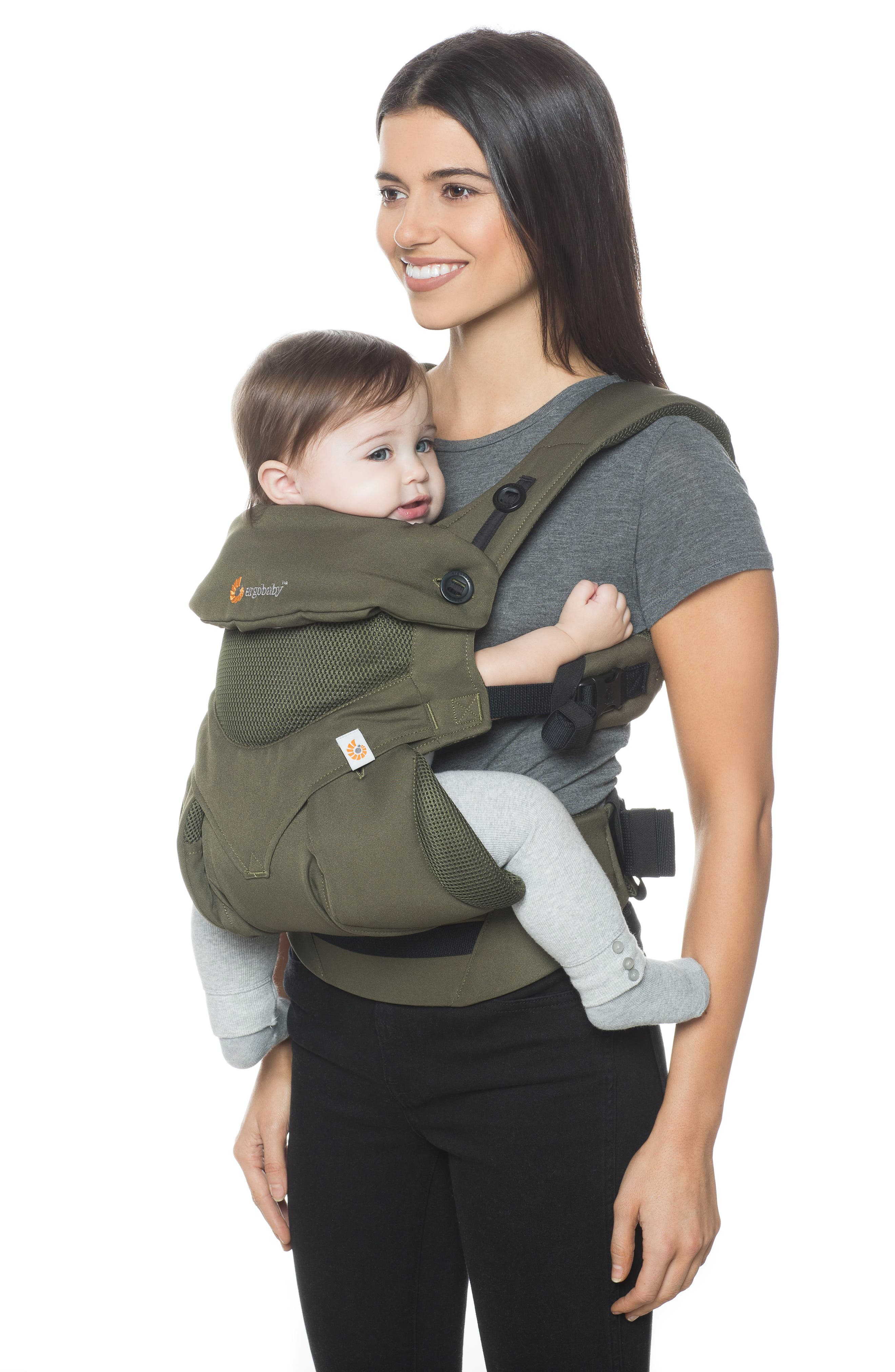 Four Position 360 - Cool Air Baby Carrier,                             Alternate thumbnail 2, color,                             KHAKI GREEN