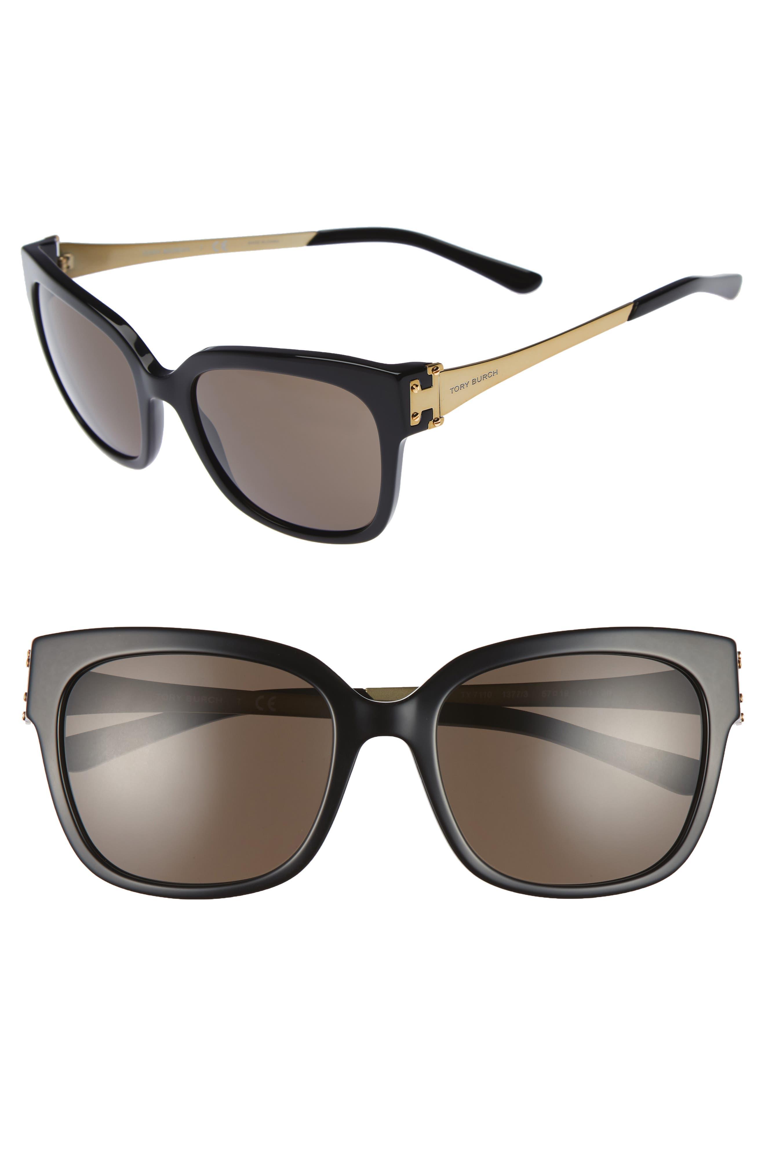 57mm Sunglasses,                             Main thumbnail 1, color,                             001
