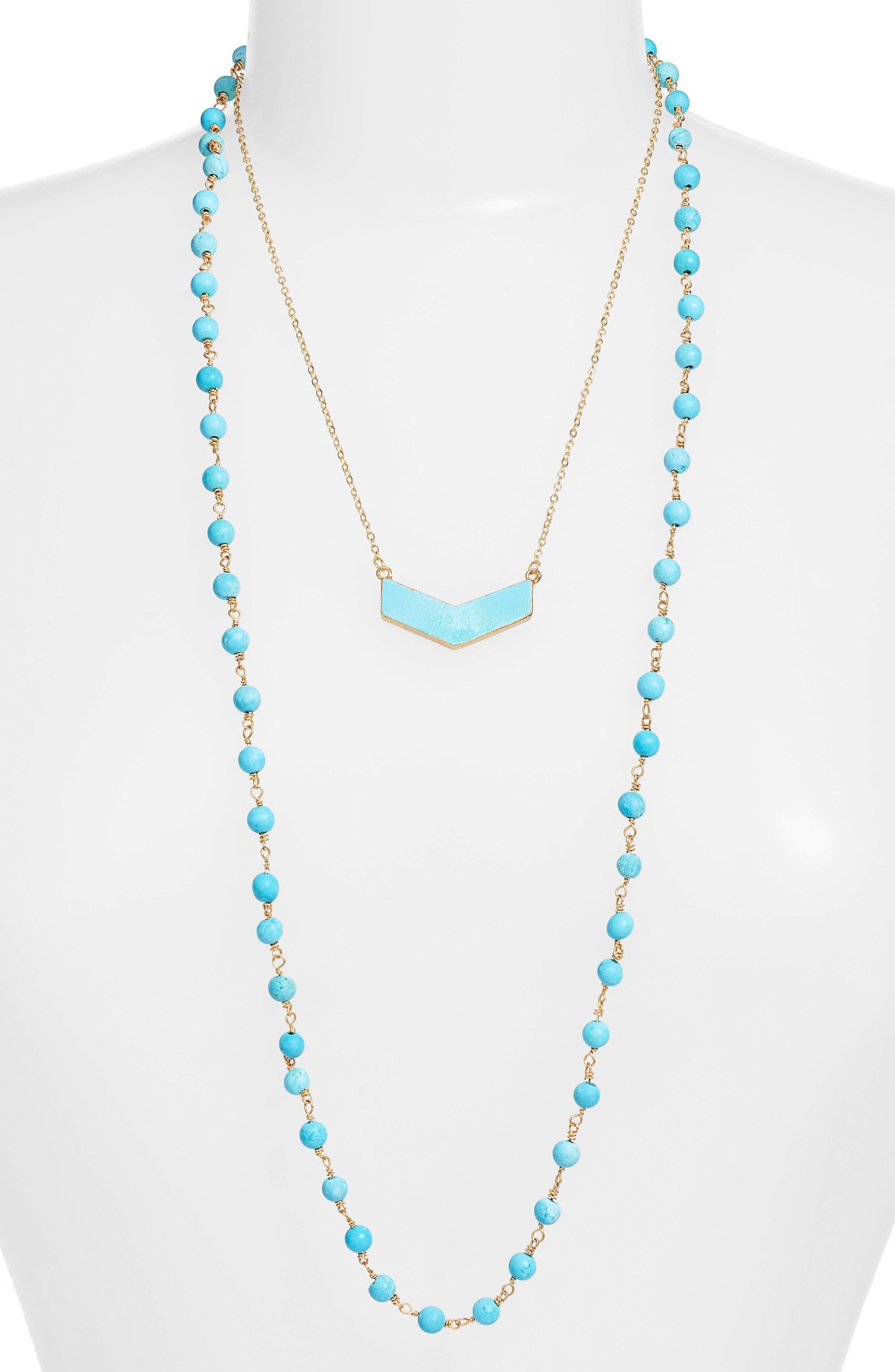 Julia Double Strand Necklace,                             Main thumbnail 2, color,