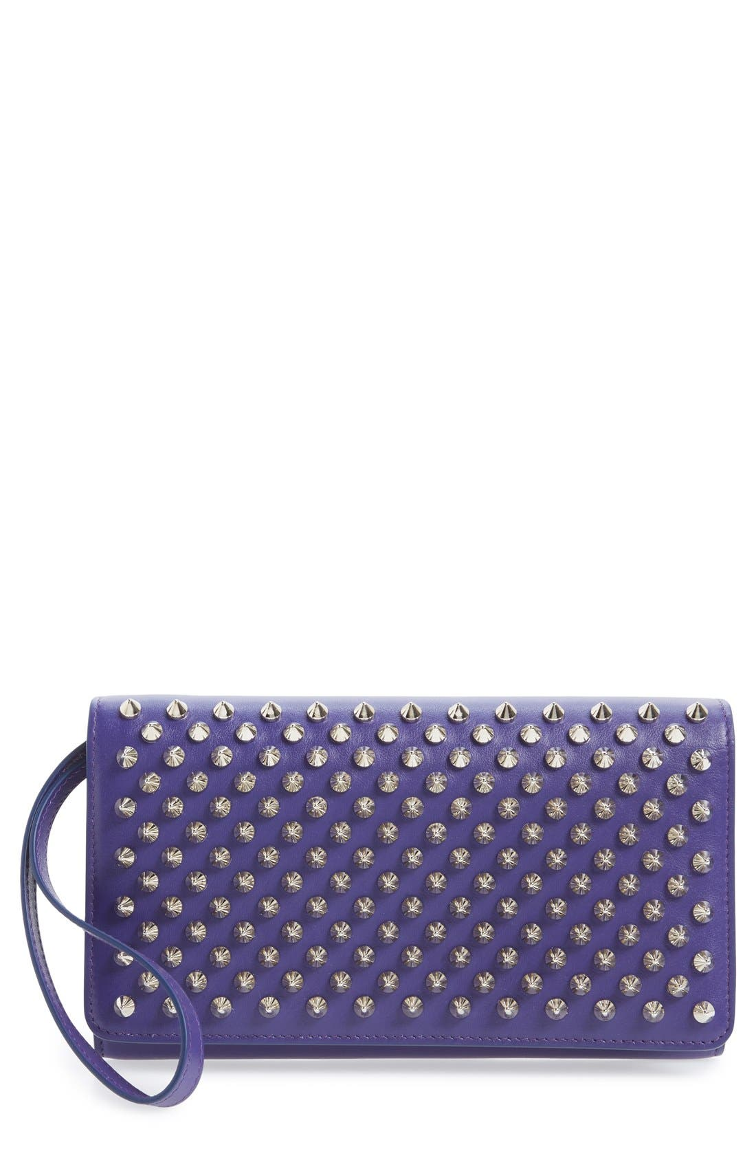 'Macaron' Studded Leather Continental Wallet,                             Main thumbnail 2, color,