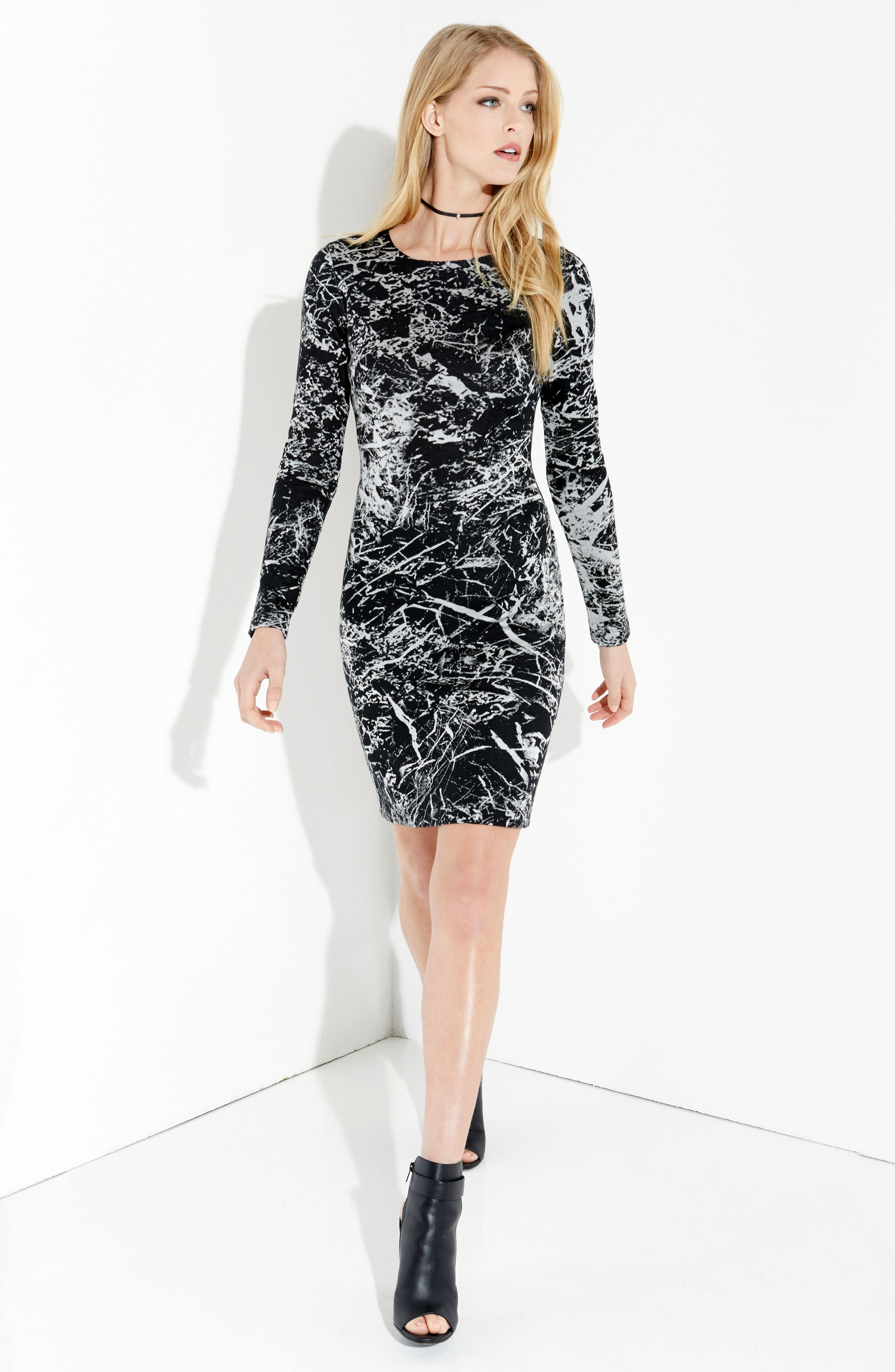 Granite Print Dress,                             Alternate thumbnail 3, color,