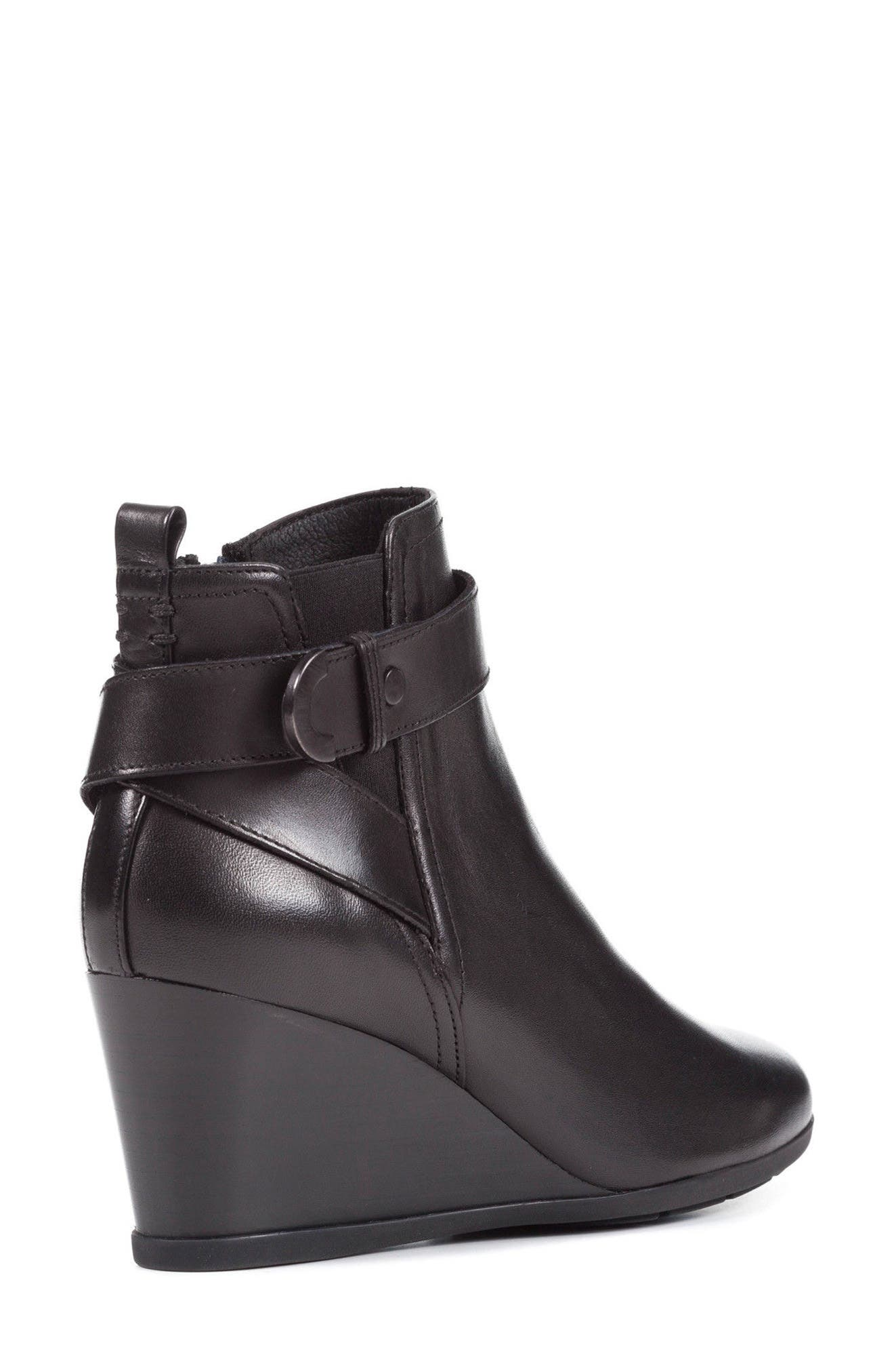 Inspiration Buckle Wedge Bootie,                             Alternate thumbnail 2, color,                             001
