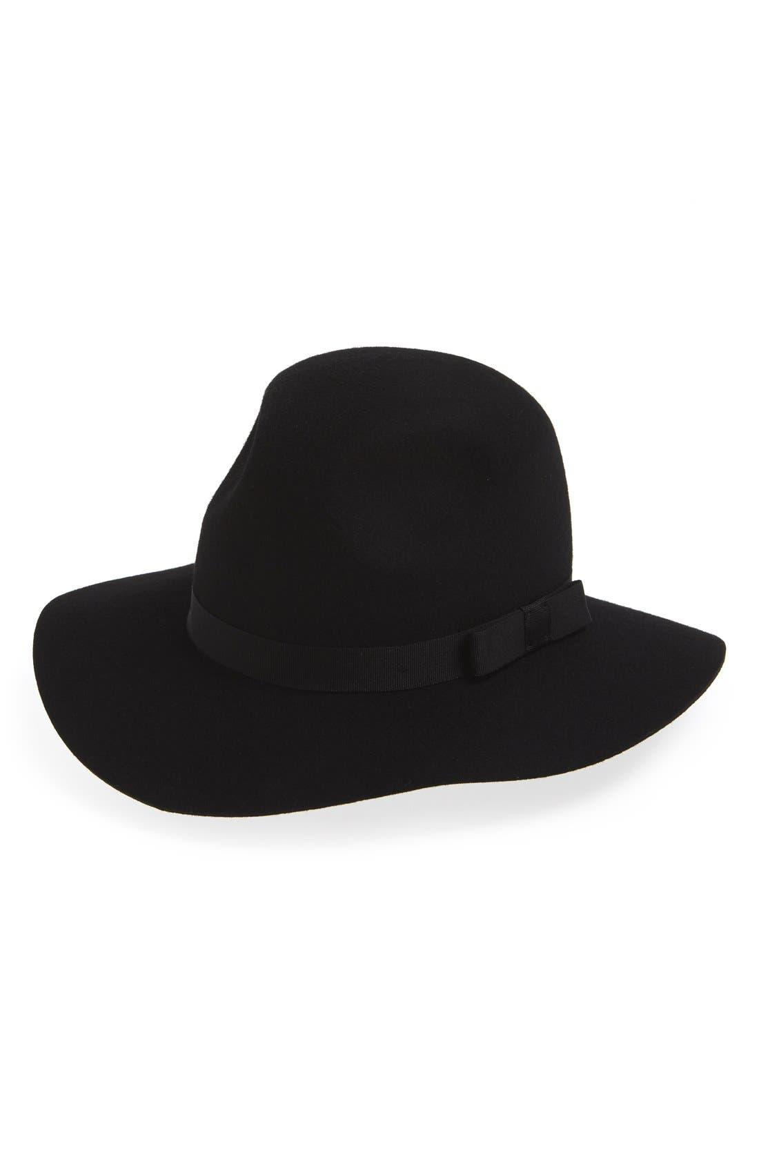 'Dalila' Floppy Felt Hat,                             Main thumbnail 2, color,