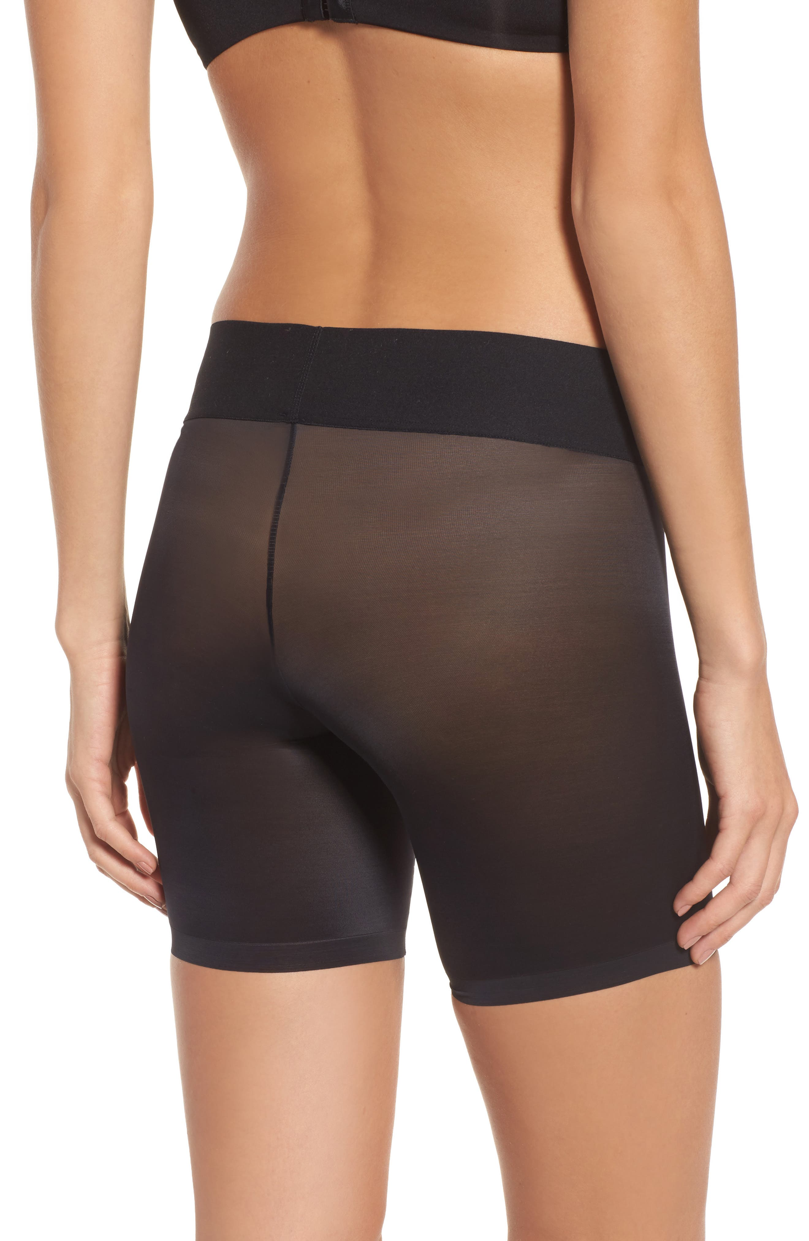 Sheer Touch Control Shorts,                             Alternate thumbnail 2, color,                             BLACK