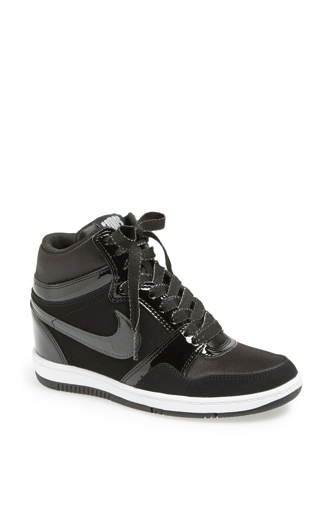 'Force Sky Hi' Wedge Sneaker,                             Main thumbnail 1, color,                             001
