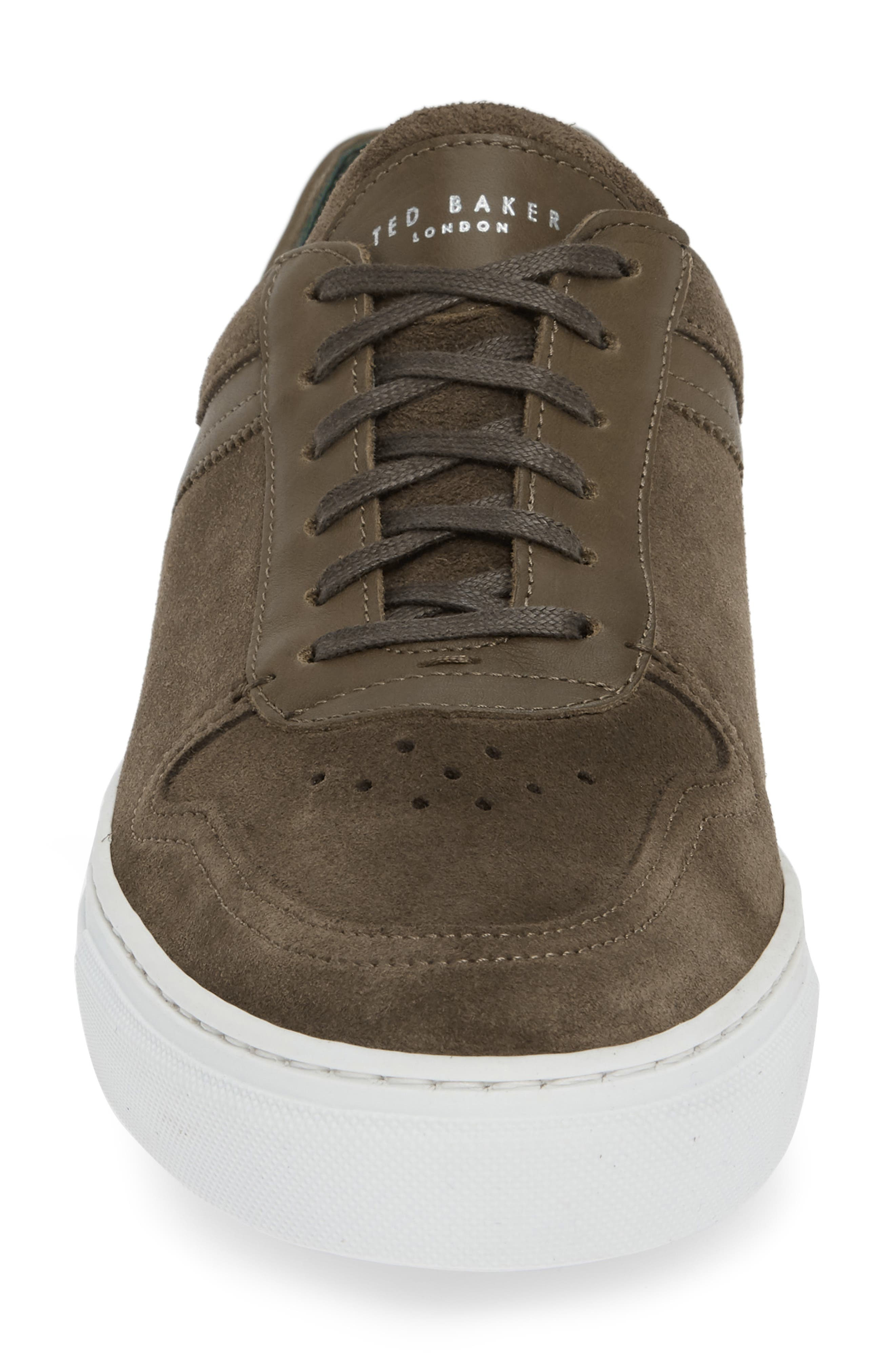 Burall Sneaker,                             Alternate thumbnail 4, color,                             DARK GREEN SUEDE