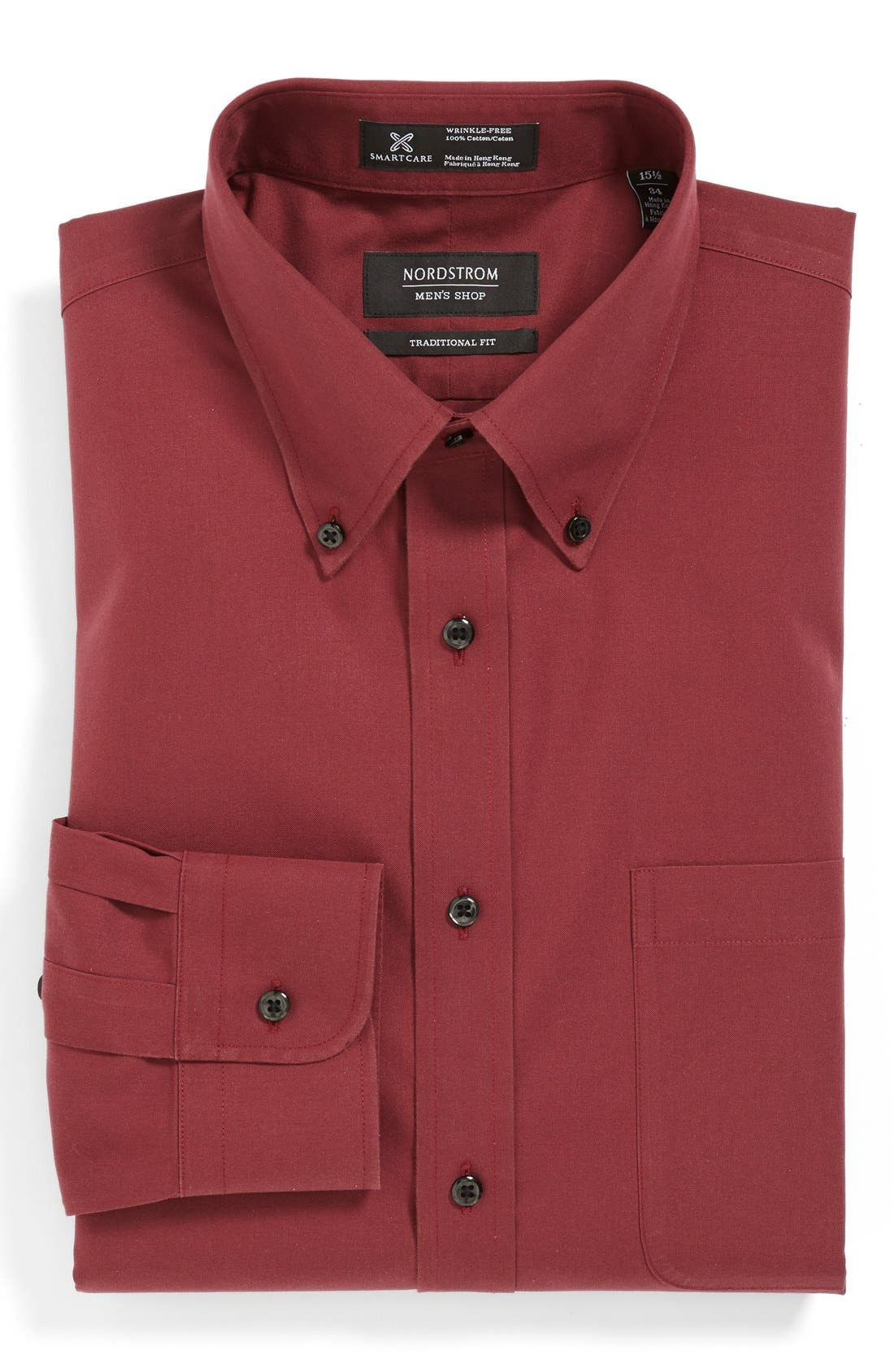 Smartcare<sup>™</sup> Traditional Fit Pinpoint Dress Shirt,                             Main thumbnail 44, color,